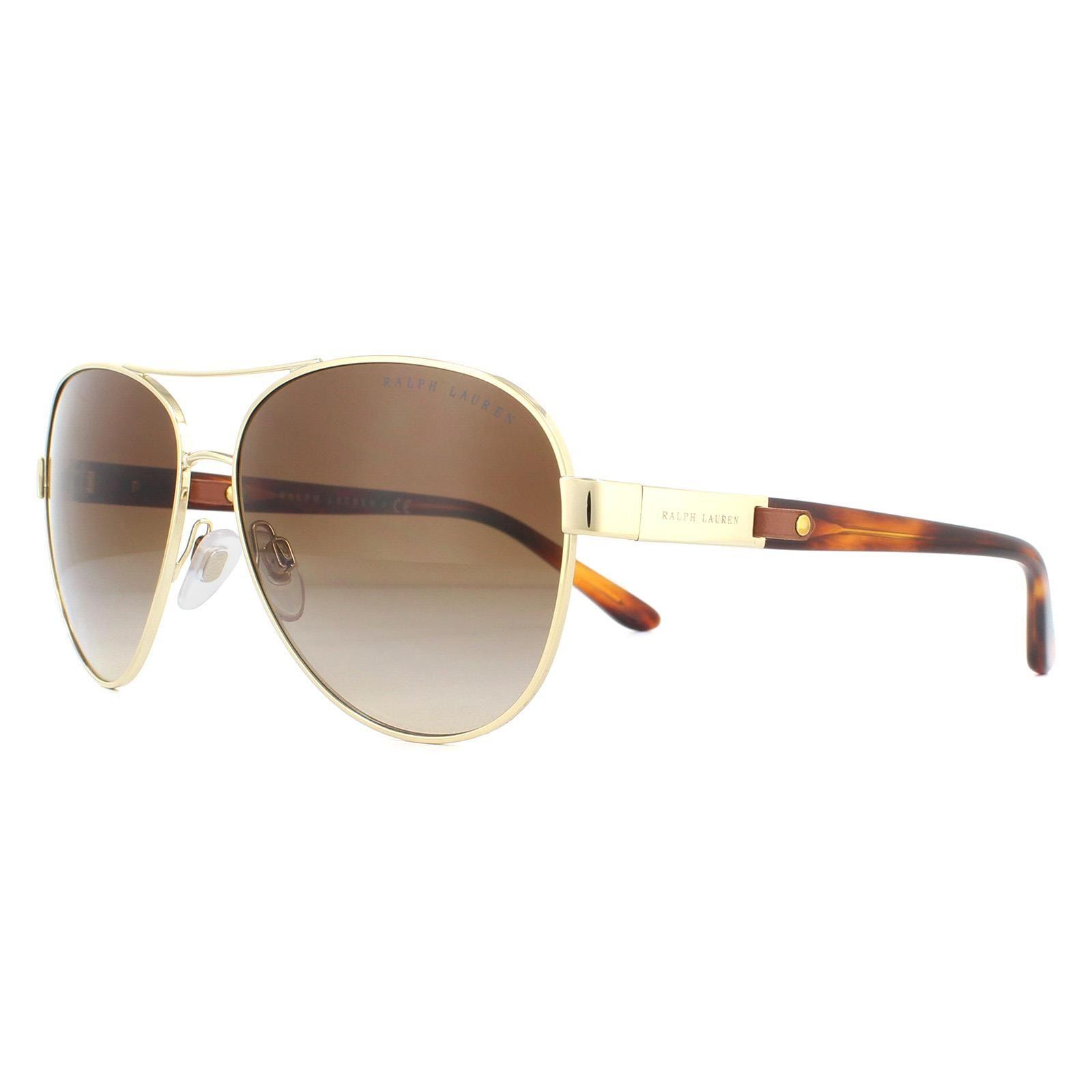 Ralph Lauren Sunglasses RL7054Q 911613 Light Gold Brown Gradient