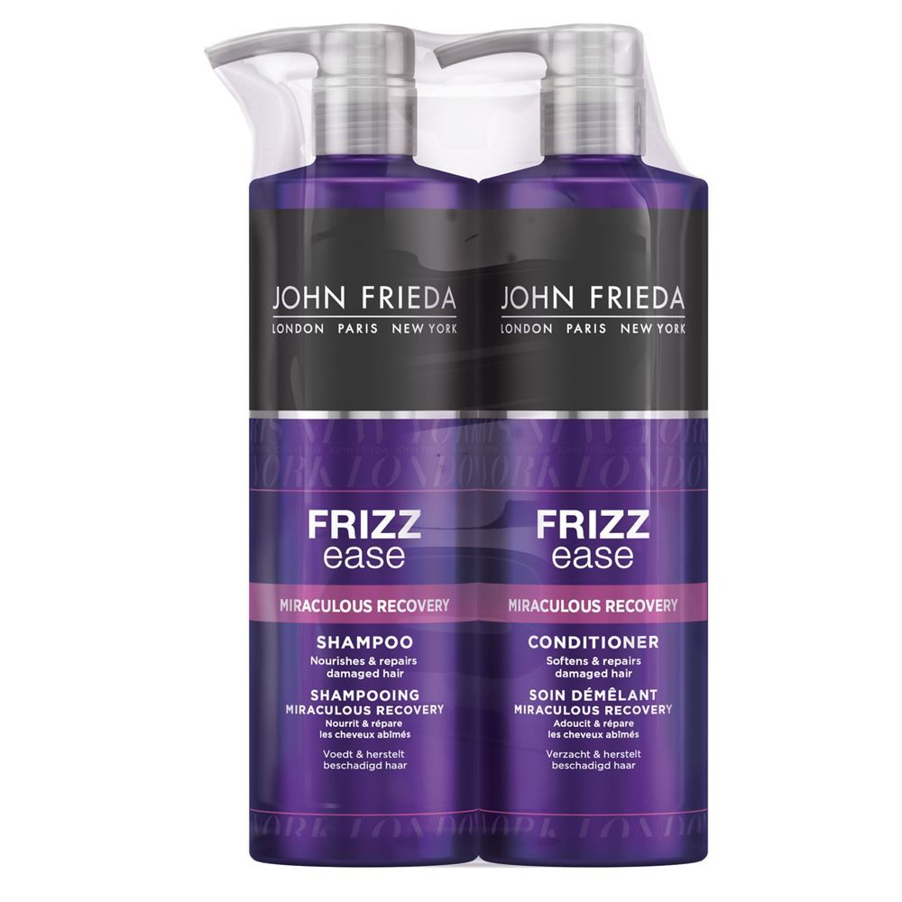 John Frieda Frizz Ease Miraculous Recovery Frizzy Hair Shampoo & Conditioner 500ml Duo Pack