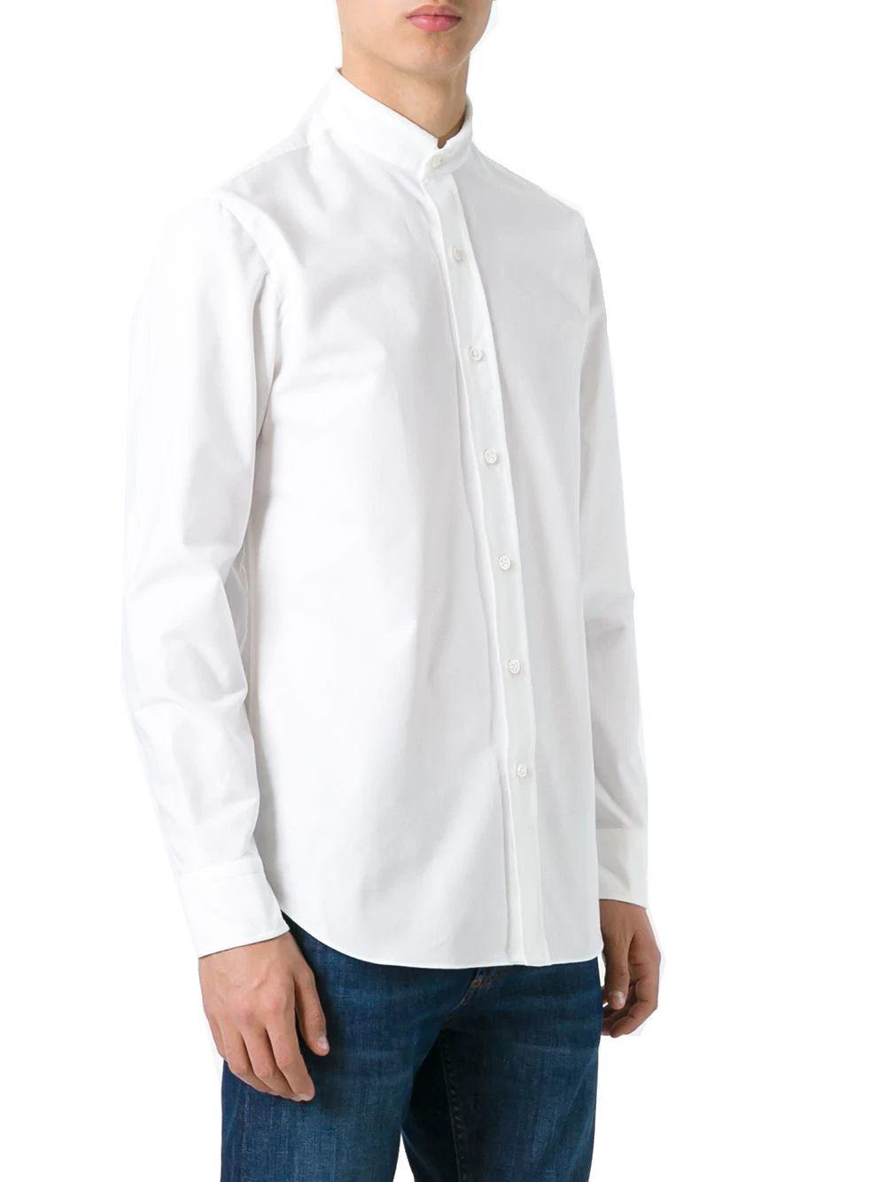SALVATORE PICCOLO MEN'S VT0505BIANCO WHITE COTTON SHIRT
