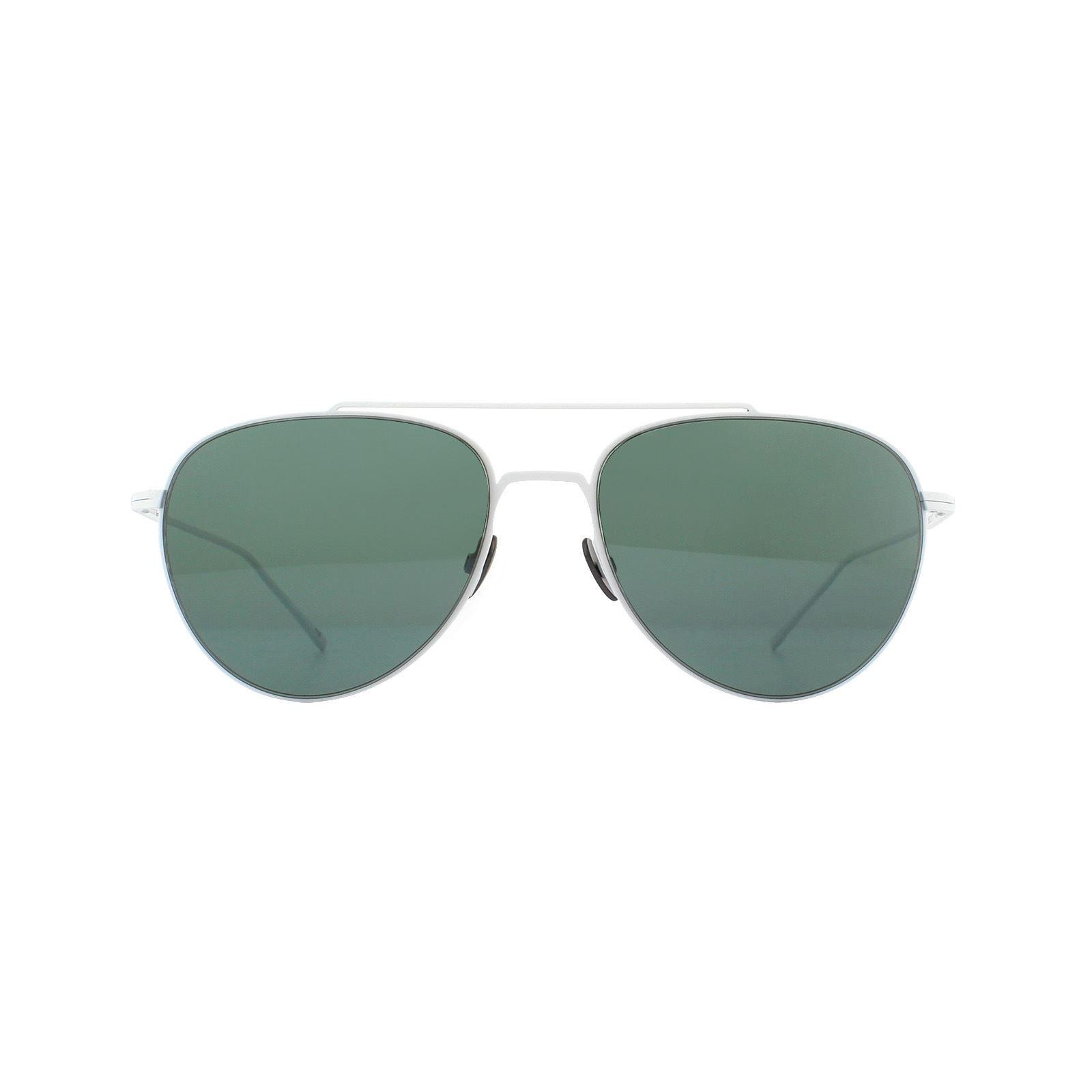 Lacoste Sunglasses L195S 105 Aviator White Grey