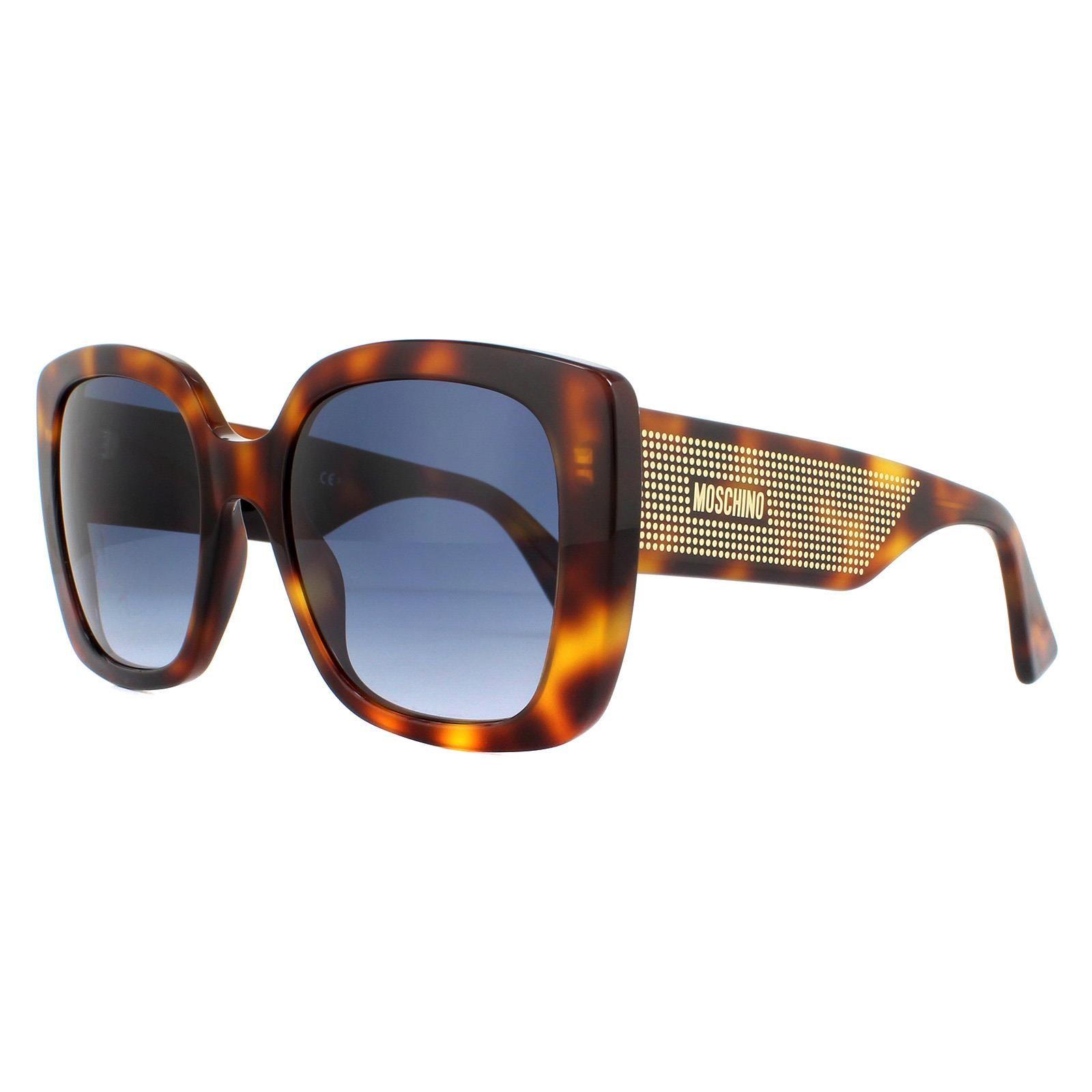 Moschino Sunglasses MOS016/S 086 08 Dark Havana Dark Blue Gradient