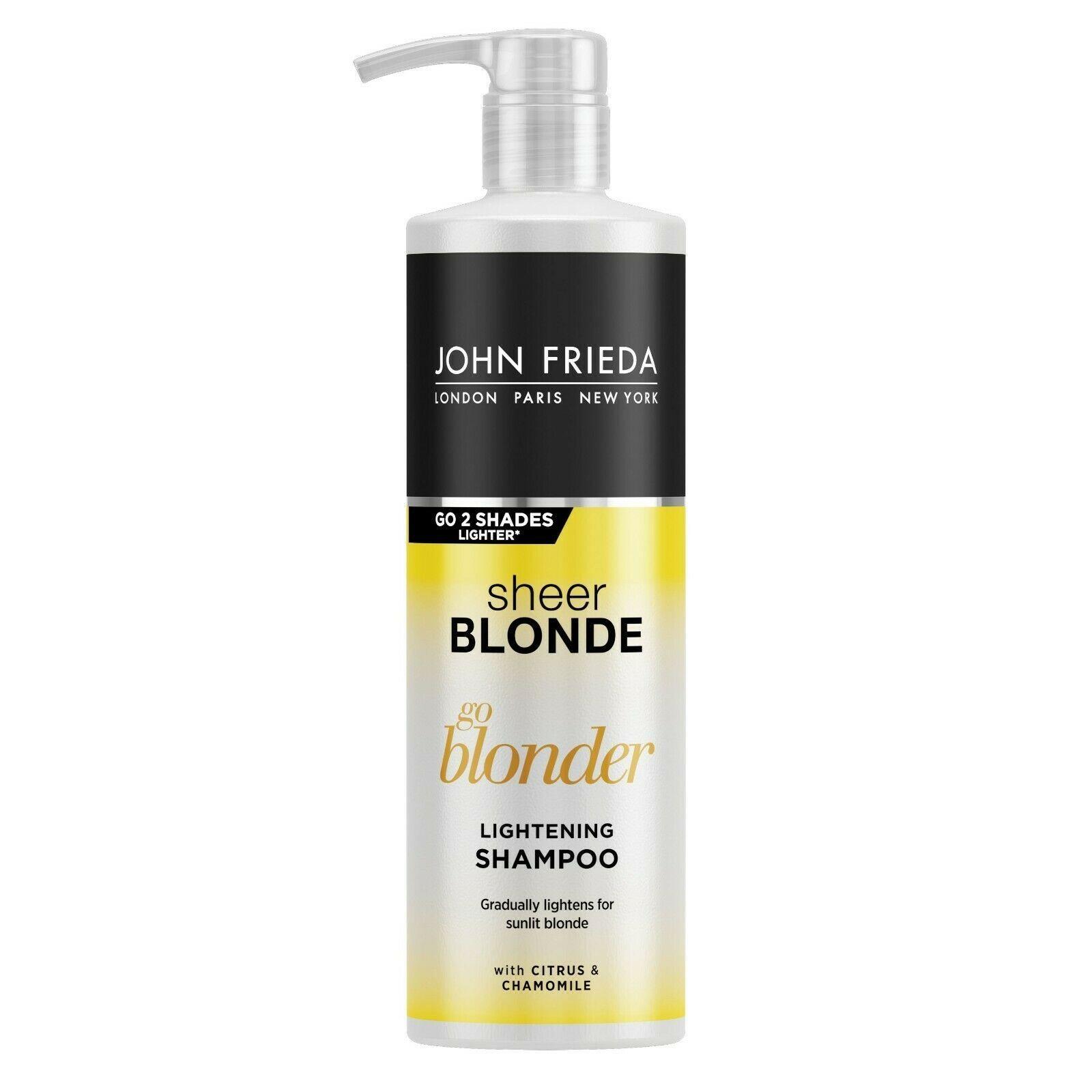 John Frieda Sheer Blonde Go Blonder Lightening Shampoo & Conditioner 500ml Duo Pack