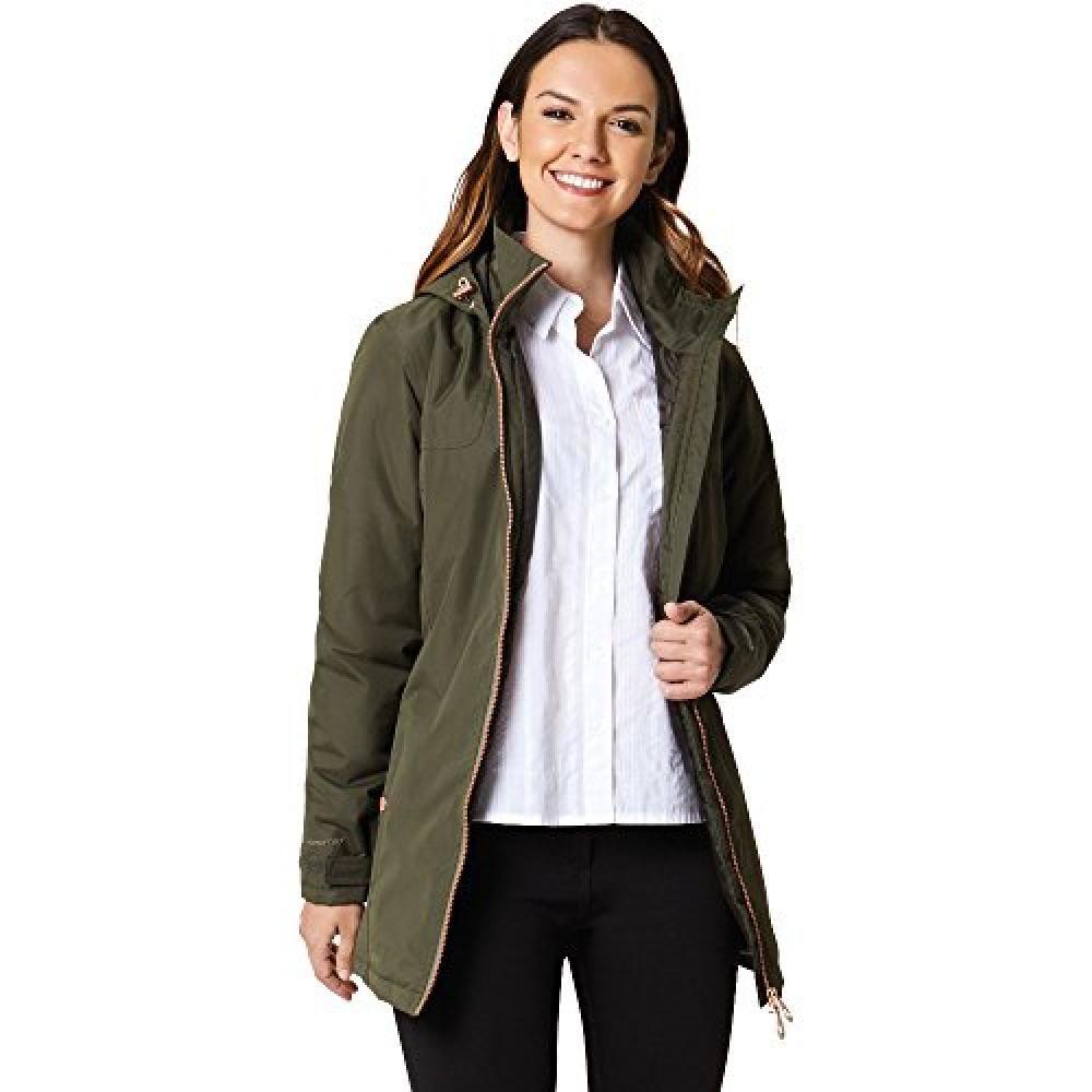 Regatta Womens/Ladies Mylee Full Length Hooded Jacket (Dark Khaki)