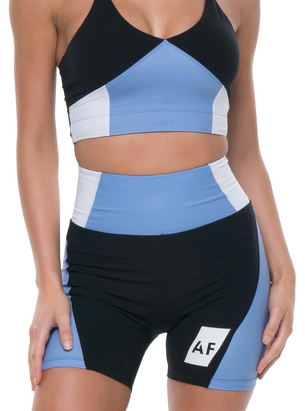 Azura Fit Original Bike Shorts Black/Blue/White