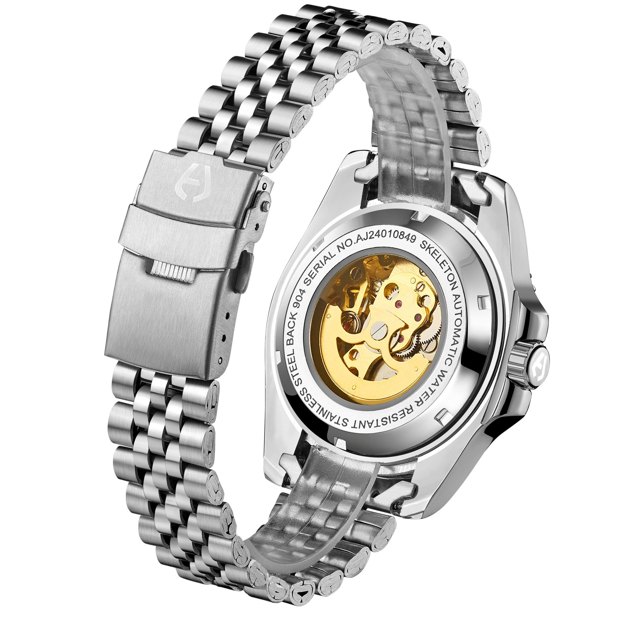 Hand Assembled Anthony James Limited Edition Skeleton Sports Automatic Steel