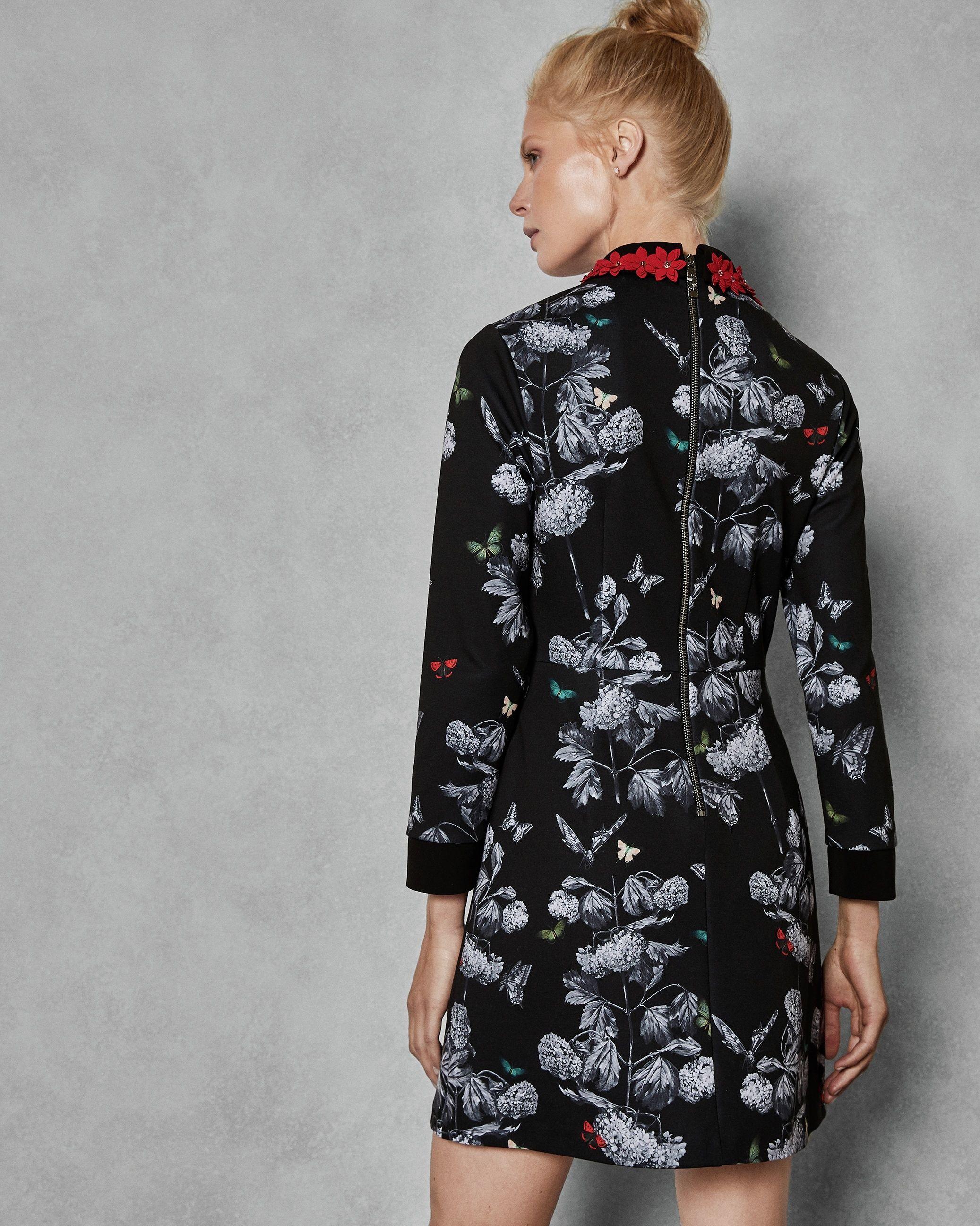 Ted Baker Amaliia Narrnia Collar Dress, Black