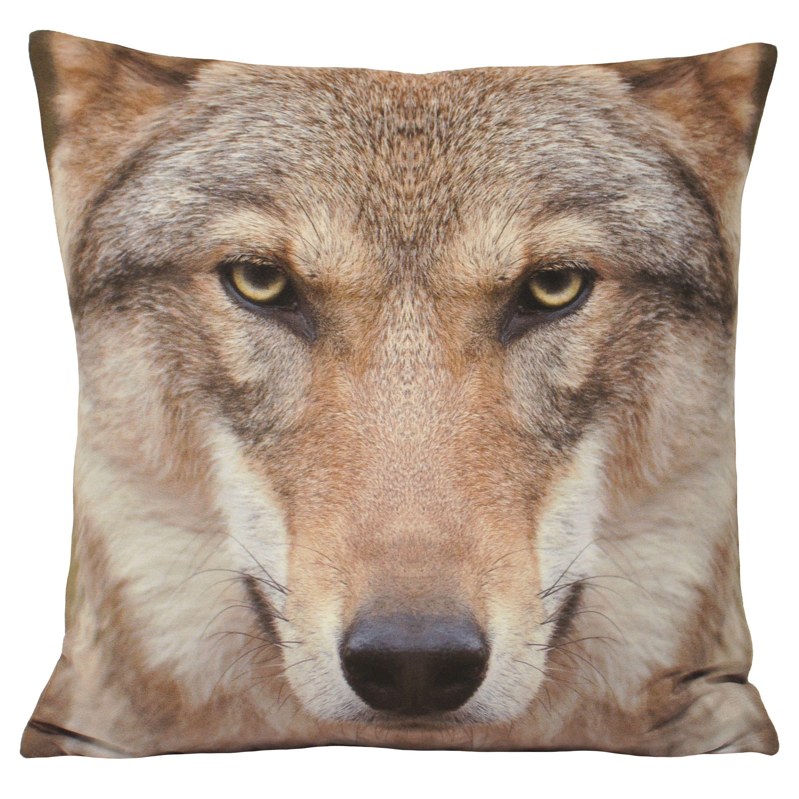Animal Wolf 45X45 Poly Cushion