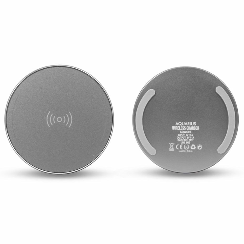 Aquarius Wireless Charger Round Silver
