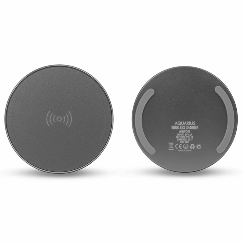 Aquarius Wireless Charger Round Space Grey