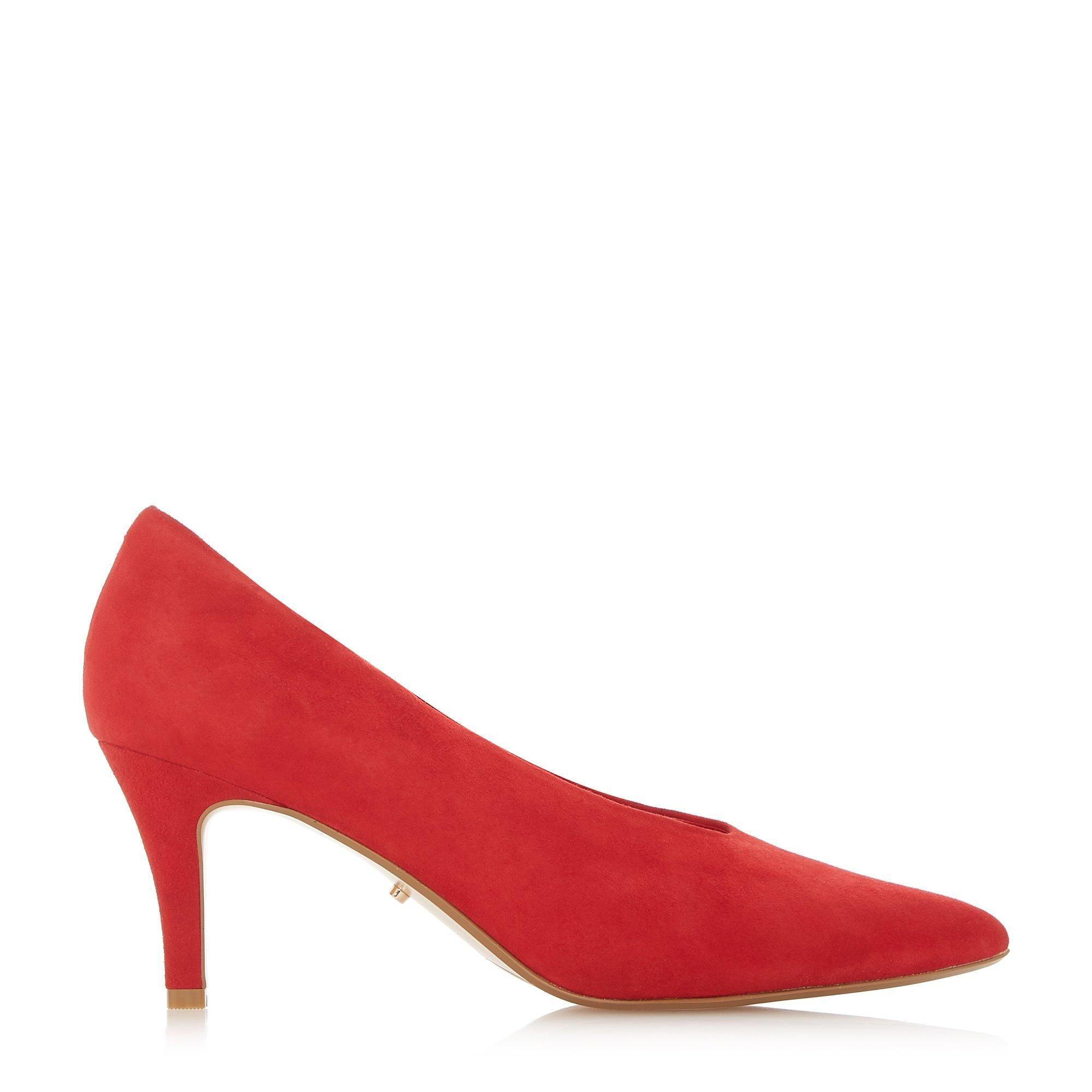 Dune Ladies ARI U-Cut High Vamp Pointed Toe Court Shoes