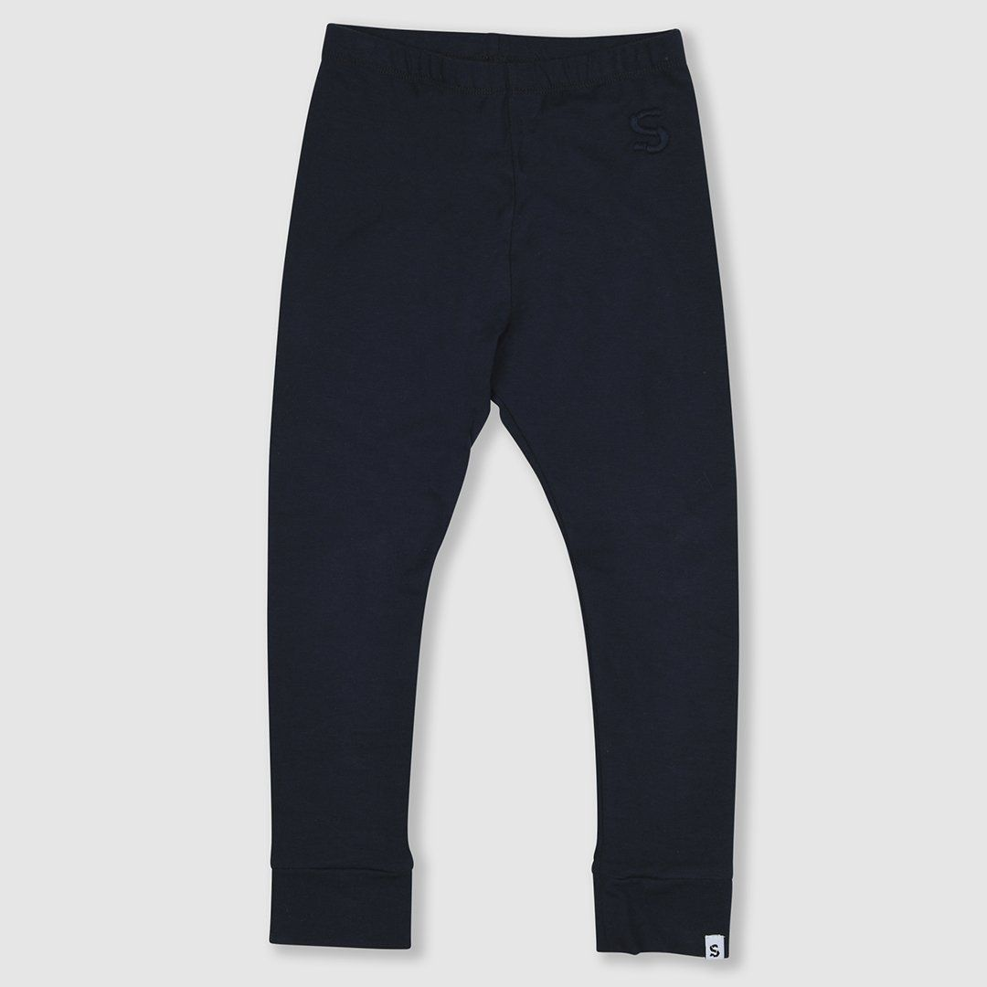 Navy cotton leggings