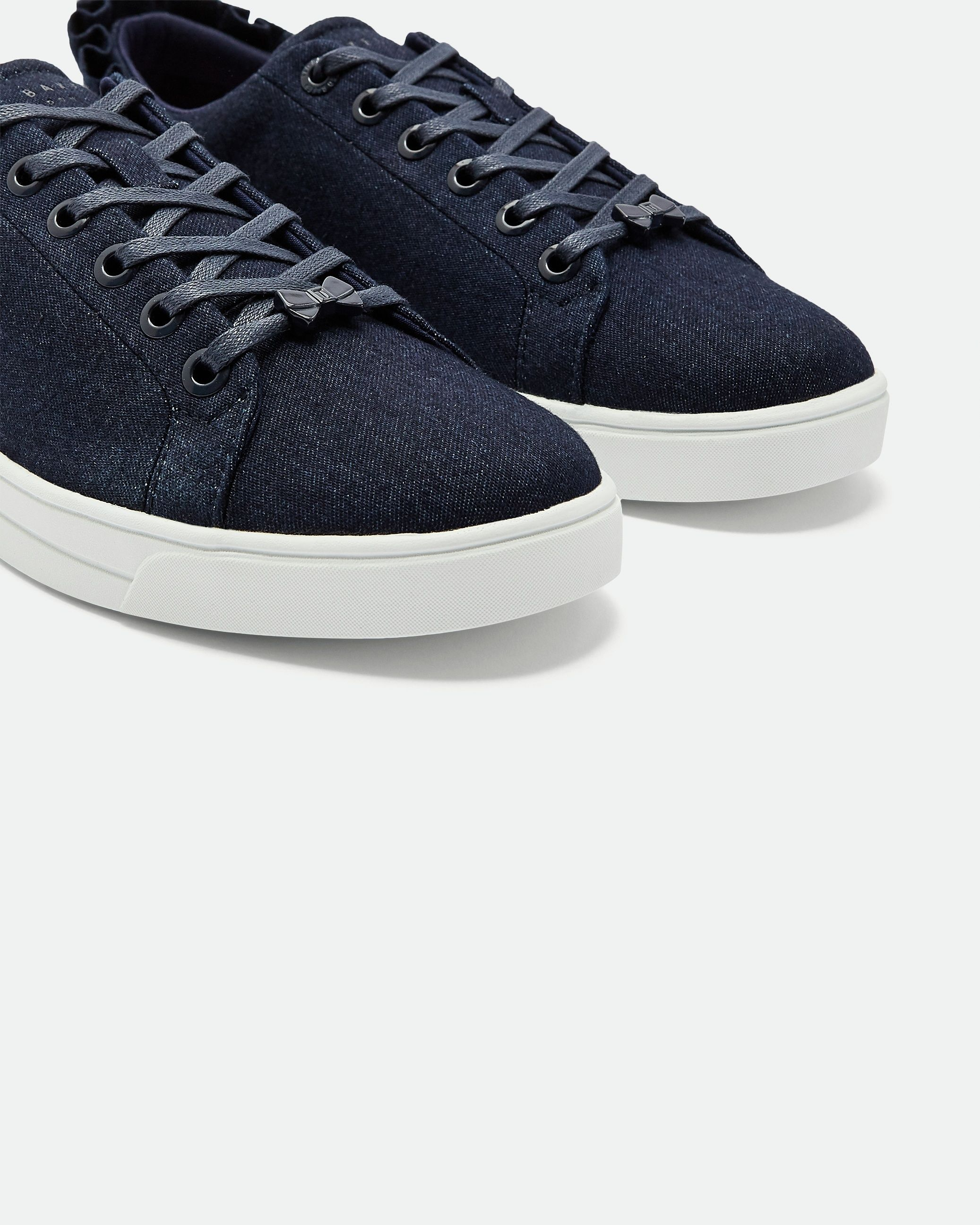 Ted Baker Astrind Ruffle Detail Trainers in Blue