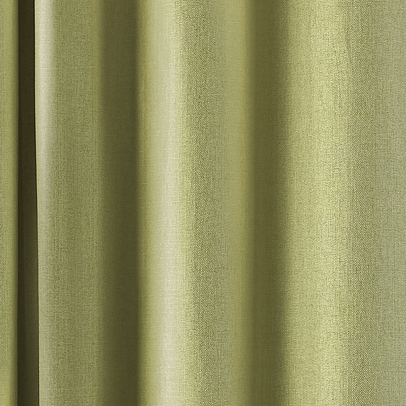 Atlantic Twill Woven Eyelet Curtains in Green