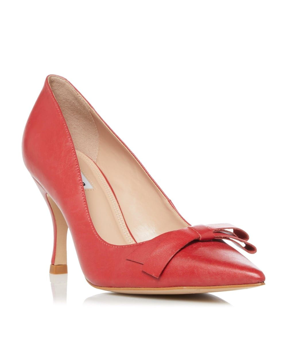 Dune Ladies AVEREY Mid Heel Bow Court Shoes