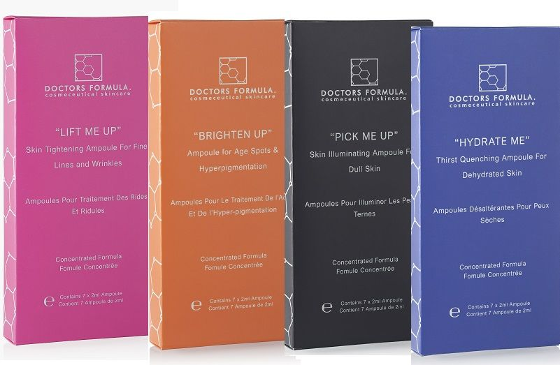 Doctors Formula - 28 days treatment with Ampoules - Brighten Up - Lift Me Up - Pick Me Up- Hydrate Me -