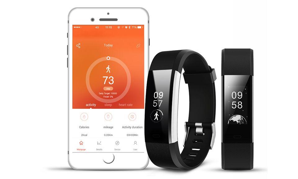 Aquarius Heart Rate Monitoring Fitness Tracker  AQ125HR - Black