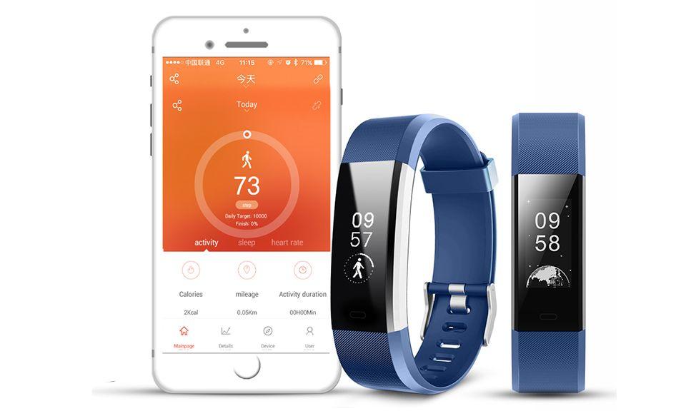 Aquarius Heart Rate Monitoring Fitness Tracker  AQ125HR - Blue