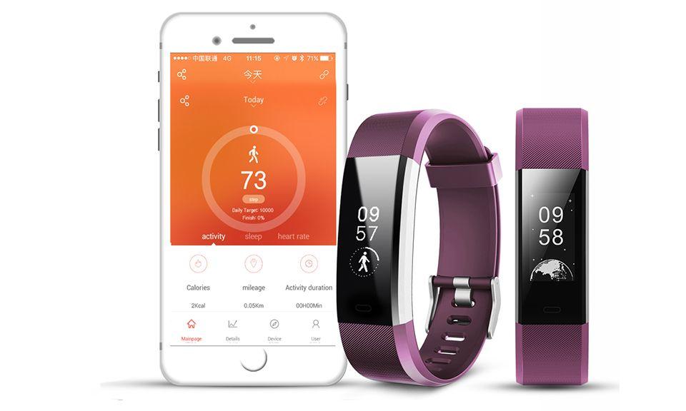 Aquarius Heart Rate Monitoring Fitness Tracker  AQ125HR - Purple