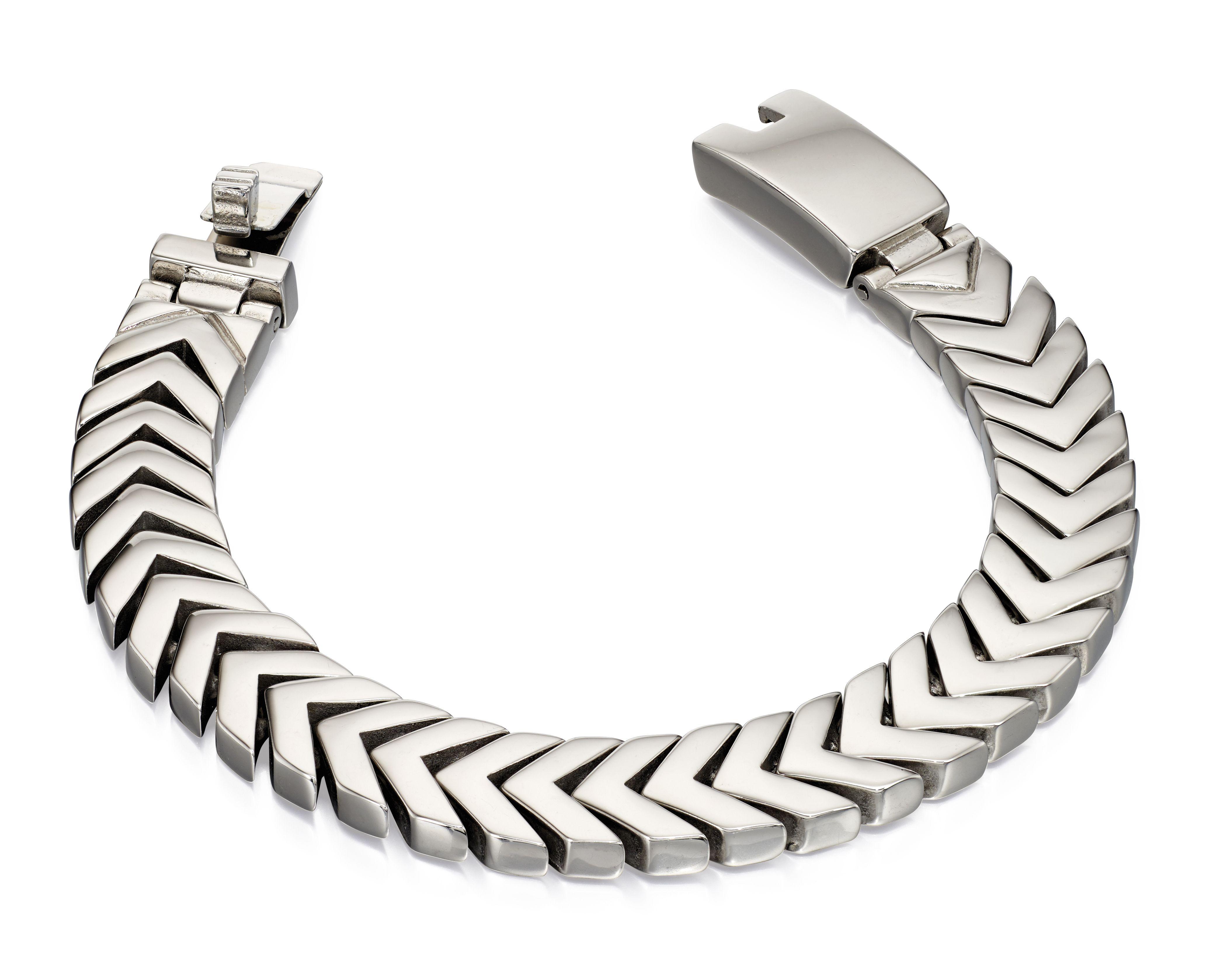 Fred Bennett Men Silver Chain Bracelet of Length 19cm B4996