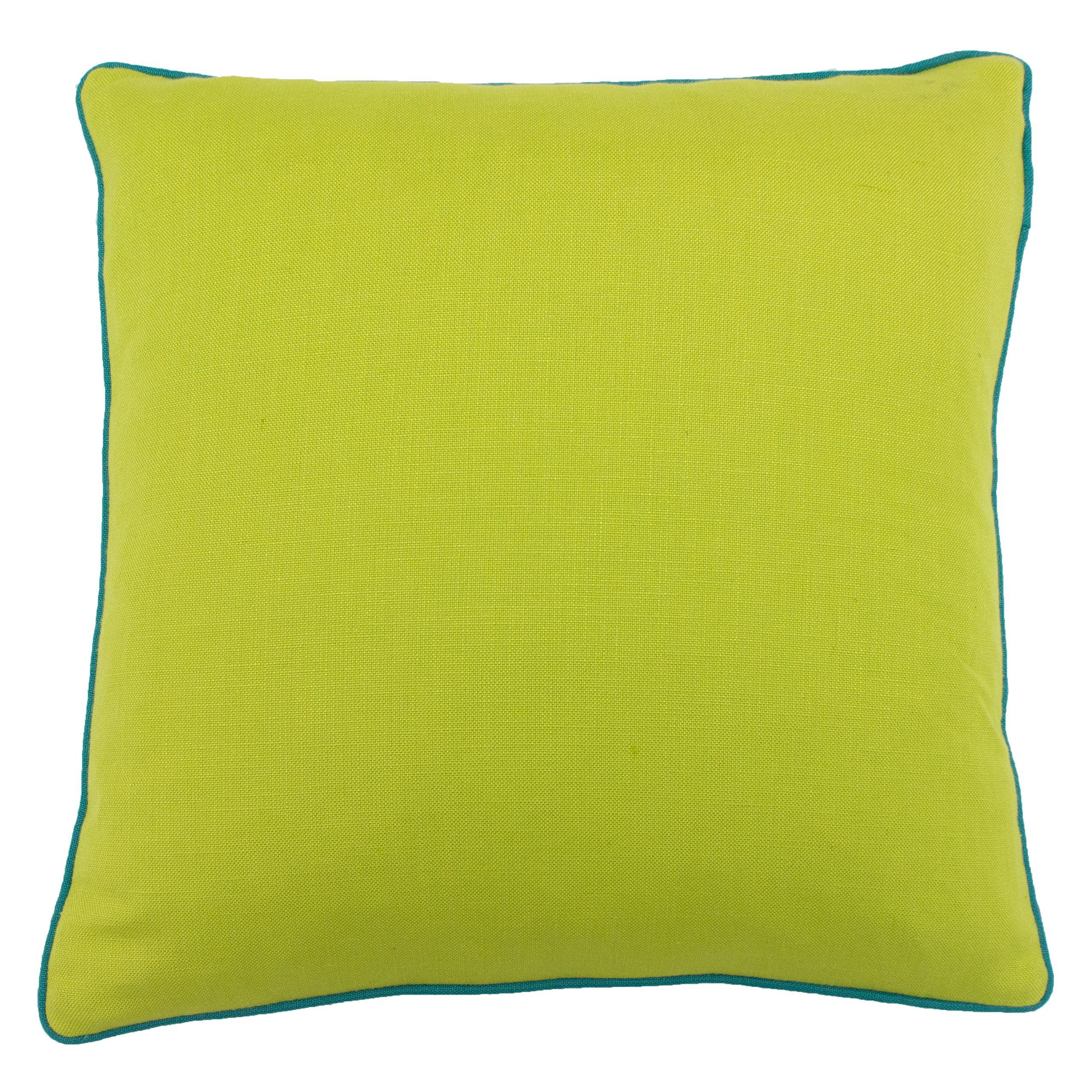Bamboo 45X45 PCushion Lime/Aqua