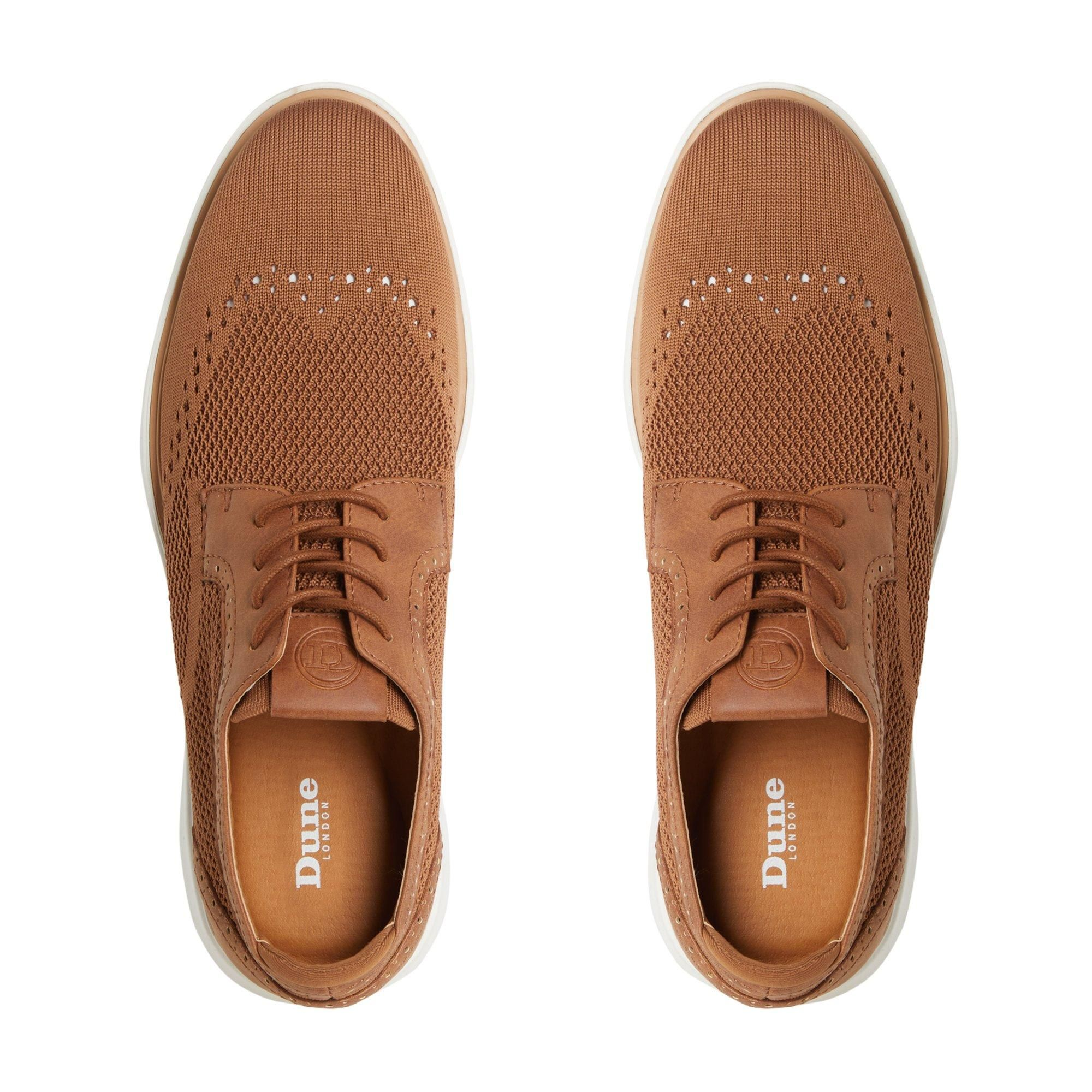 Dune Mens BARBED Wedge Sole Lace Up Brogue Shoes