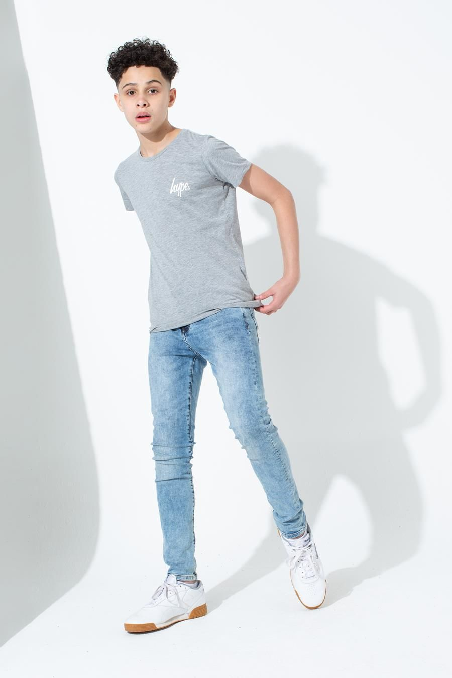 Hype Grey Mini Script Kids T-Shirt