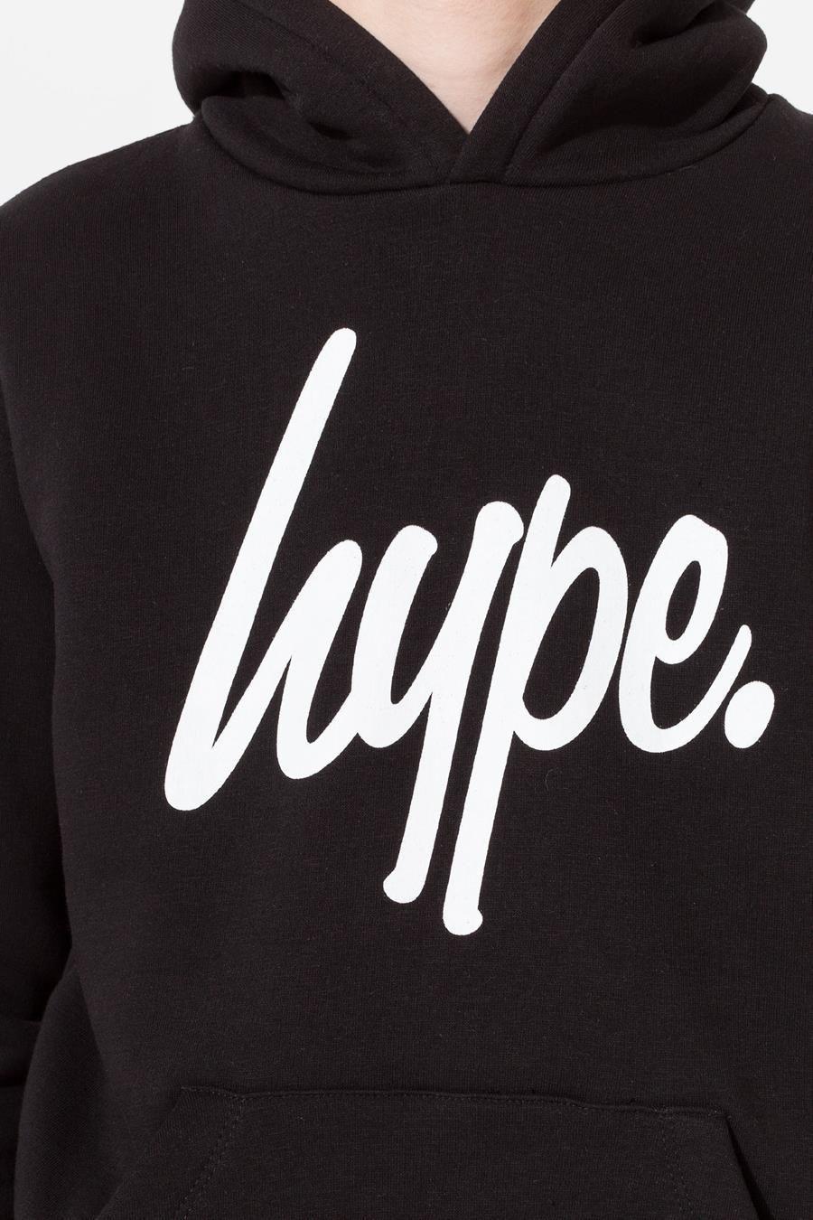 Hype Black Script Kids Pullover Hoodie