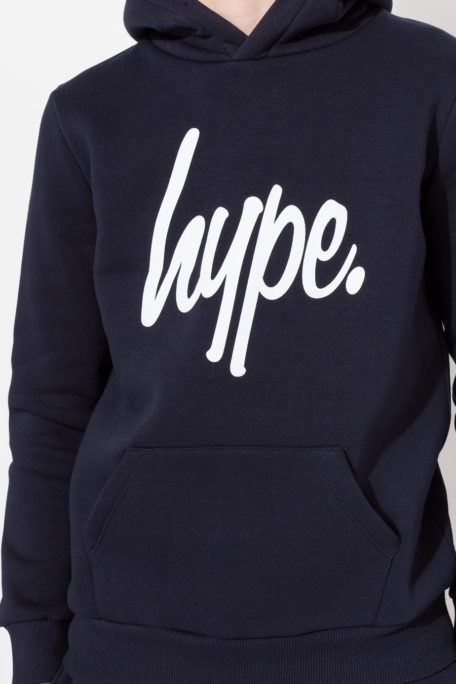Hype Navy Script Kids Pullover Hoodie