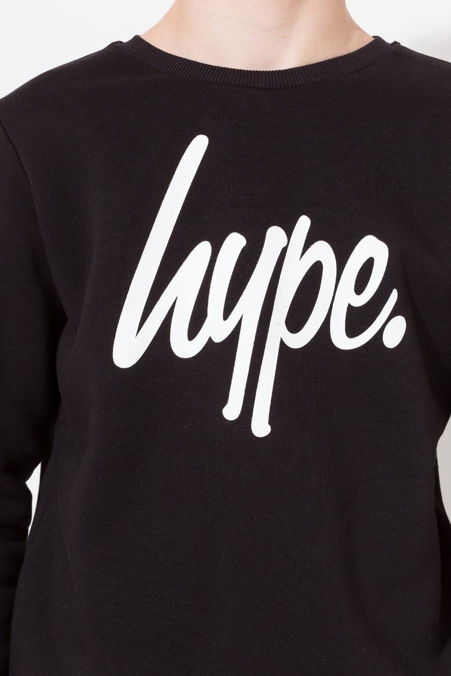 Hype Black Hype Script Kids Crewneck