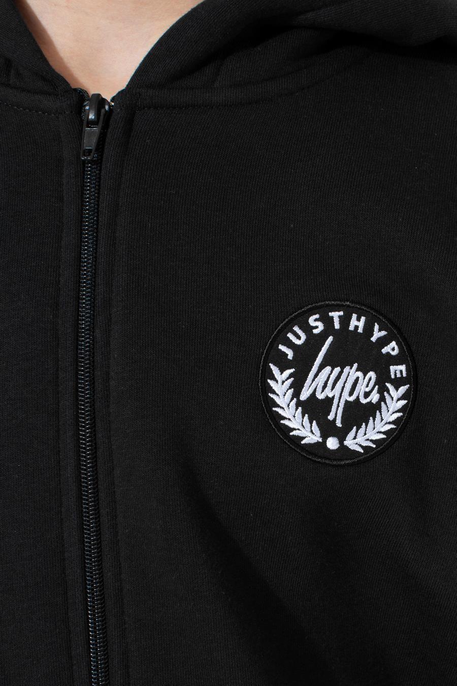 Hype Black Crest Kids Zip Hoodie