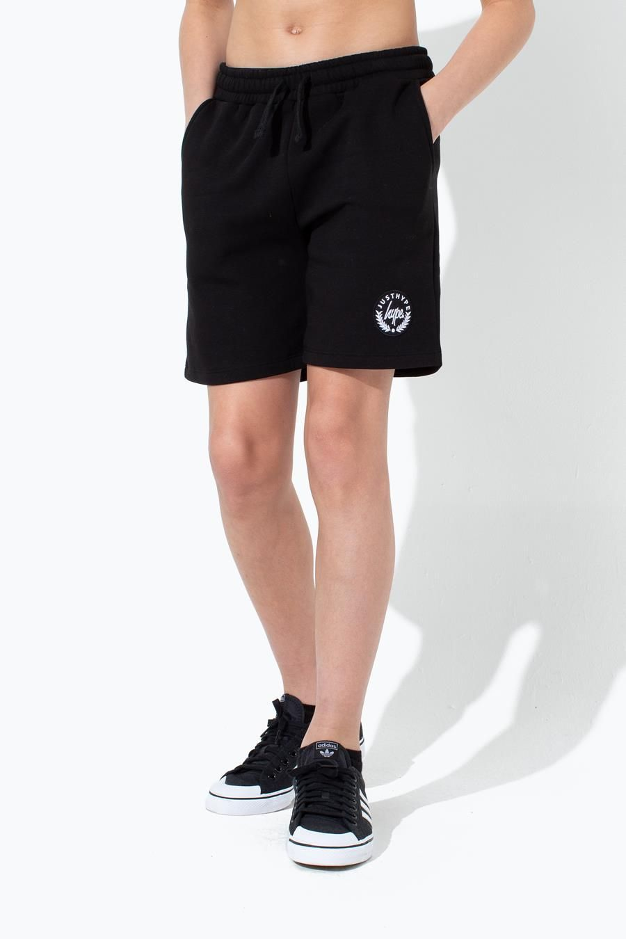 Hype Black Crest Kids Shorts