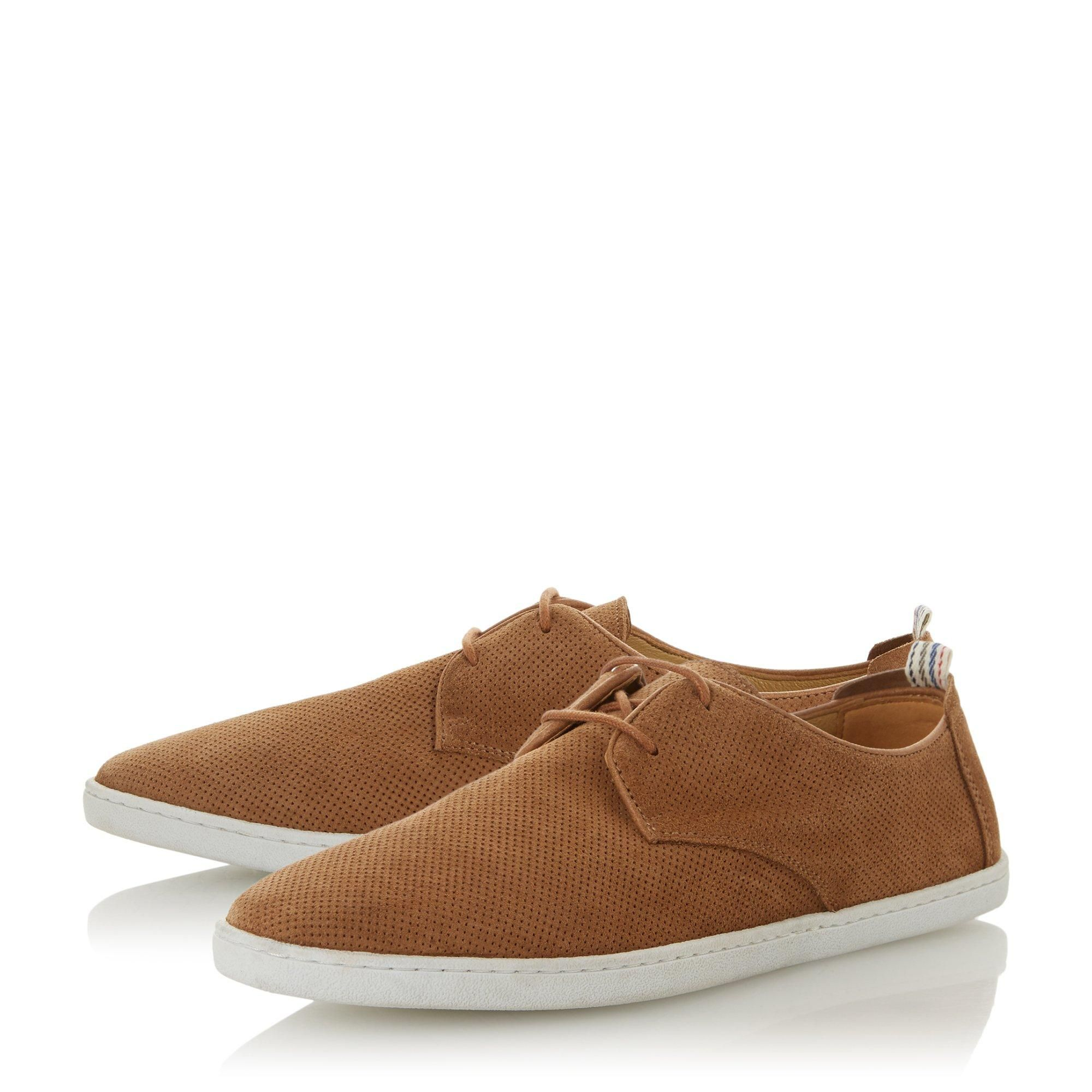 Dune Mens BELLOWS Perforated Casual Gibson Shoes
