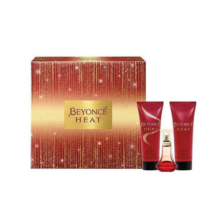 Beyonce Heat Gift Set 30Ml Eau De Parfum And 75Ml Body Lotion And 75Ml Shower Gel