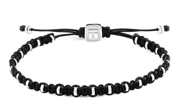 Macrame bamboo black bracelet