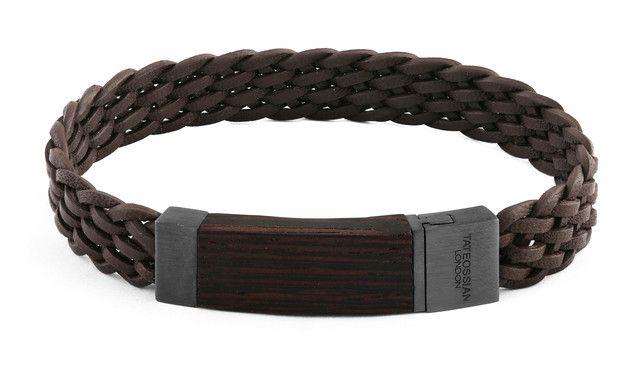 Madera braided italian leather bracelet