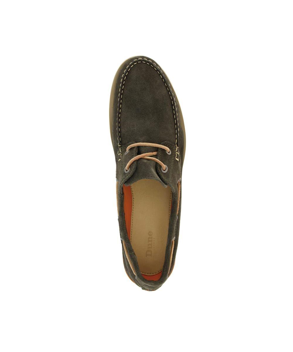Dune Mens BLAINES Nubuck Boat Shoes