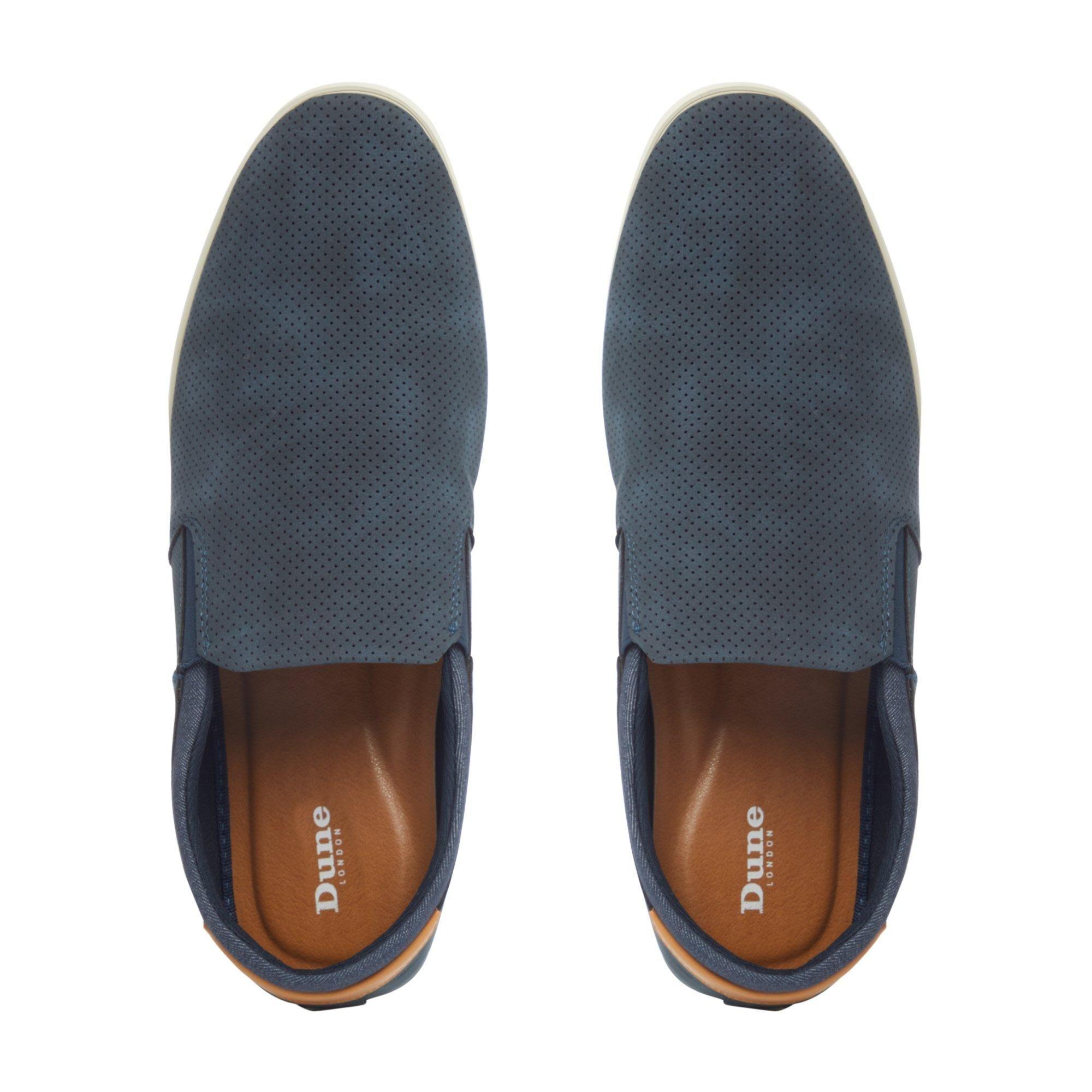 Dune Mens BLINKS Perforated Slip On Shoes