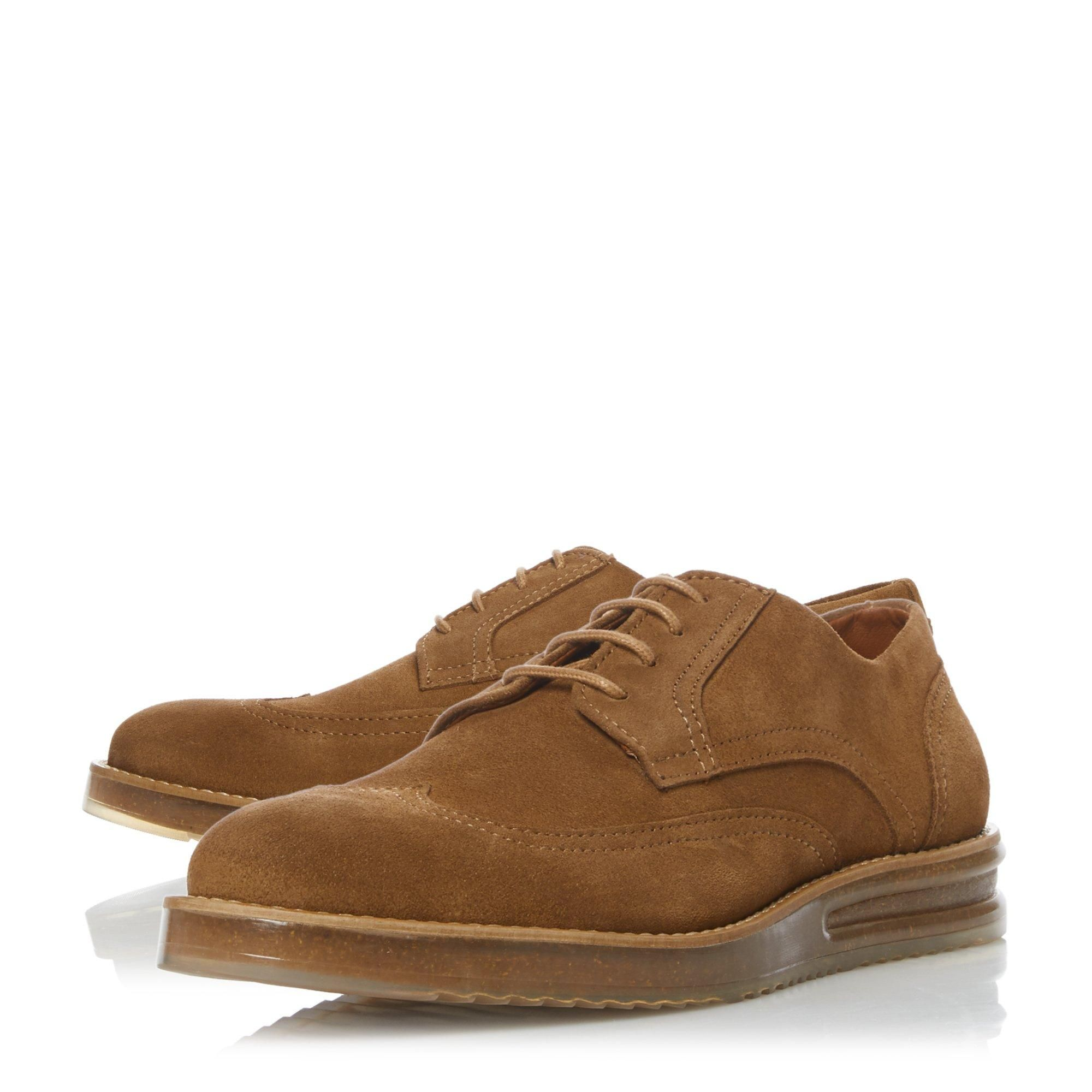 Dune Mens BOOOM Casual Cork Wedge Lace Up Brogues