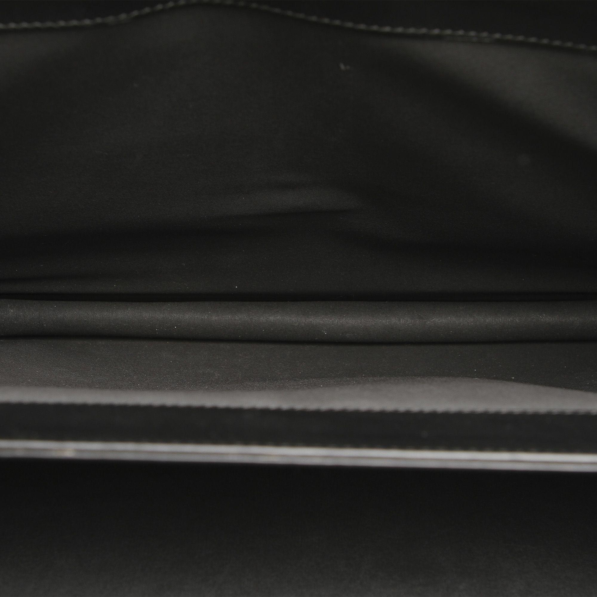 Vintage Bottega Veneta Intrecciato Leather Business Bag Black