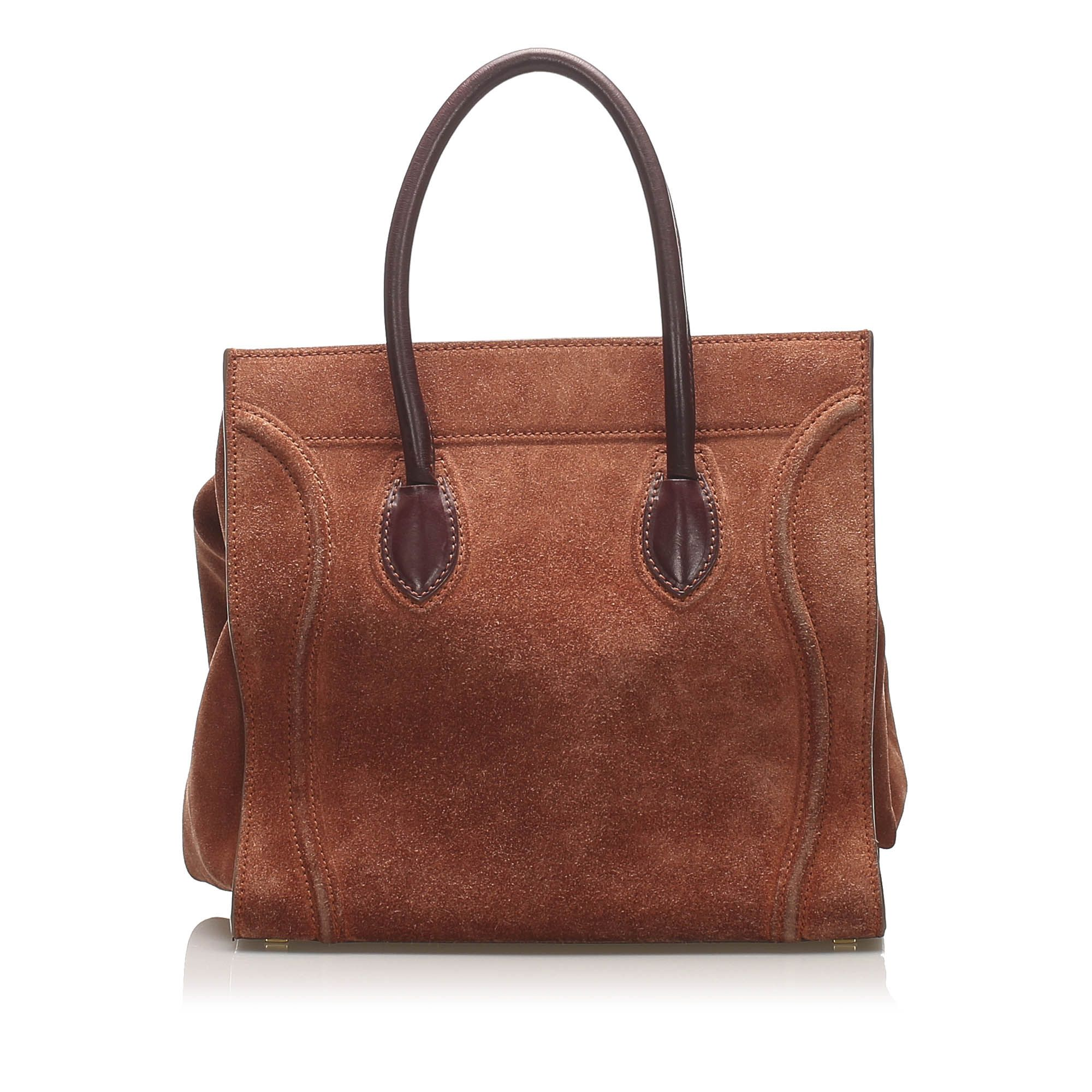 Vintage Celine Phantom Leather Handbag Brown