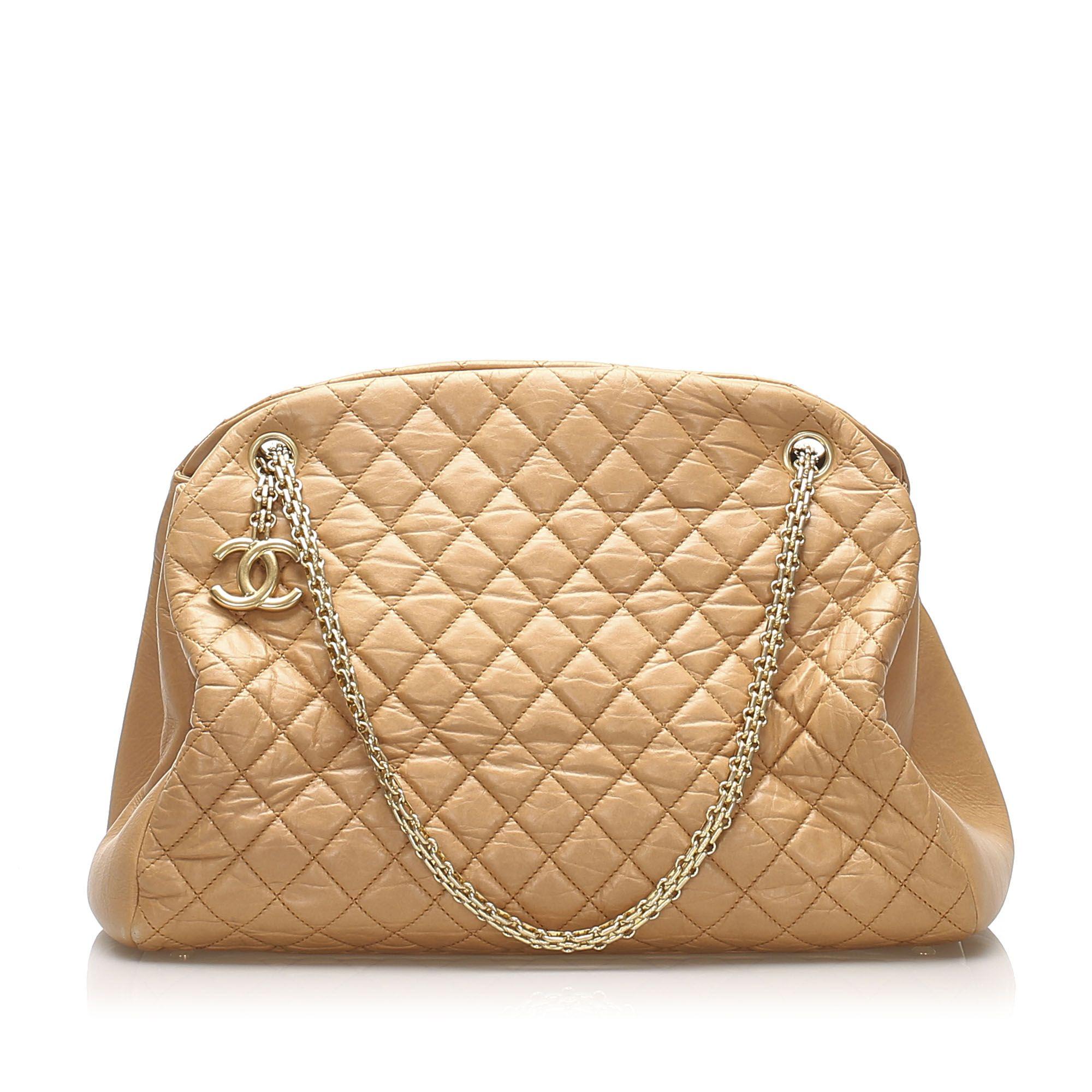 Vintage Chanel Mademoiselle Bowling Bag Brown