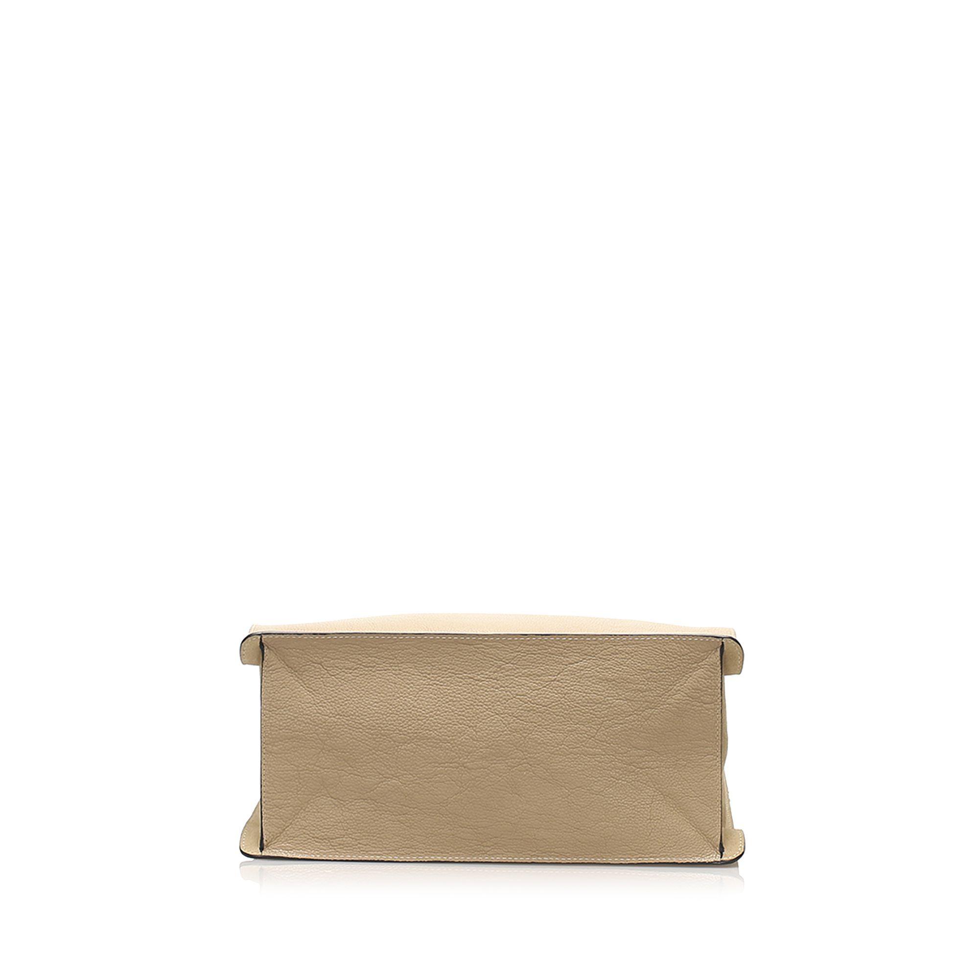 Vintage Chloe Faye Leather Tote Bag Brown