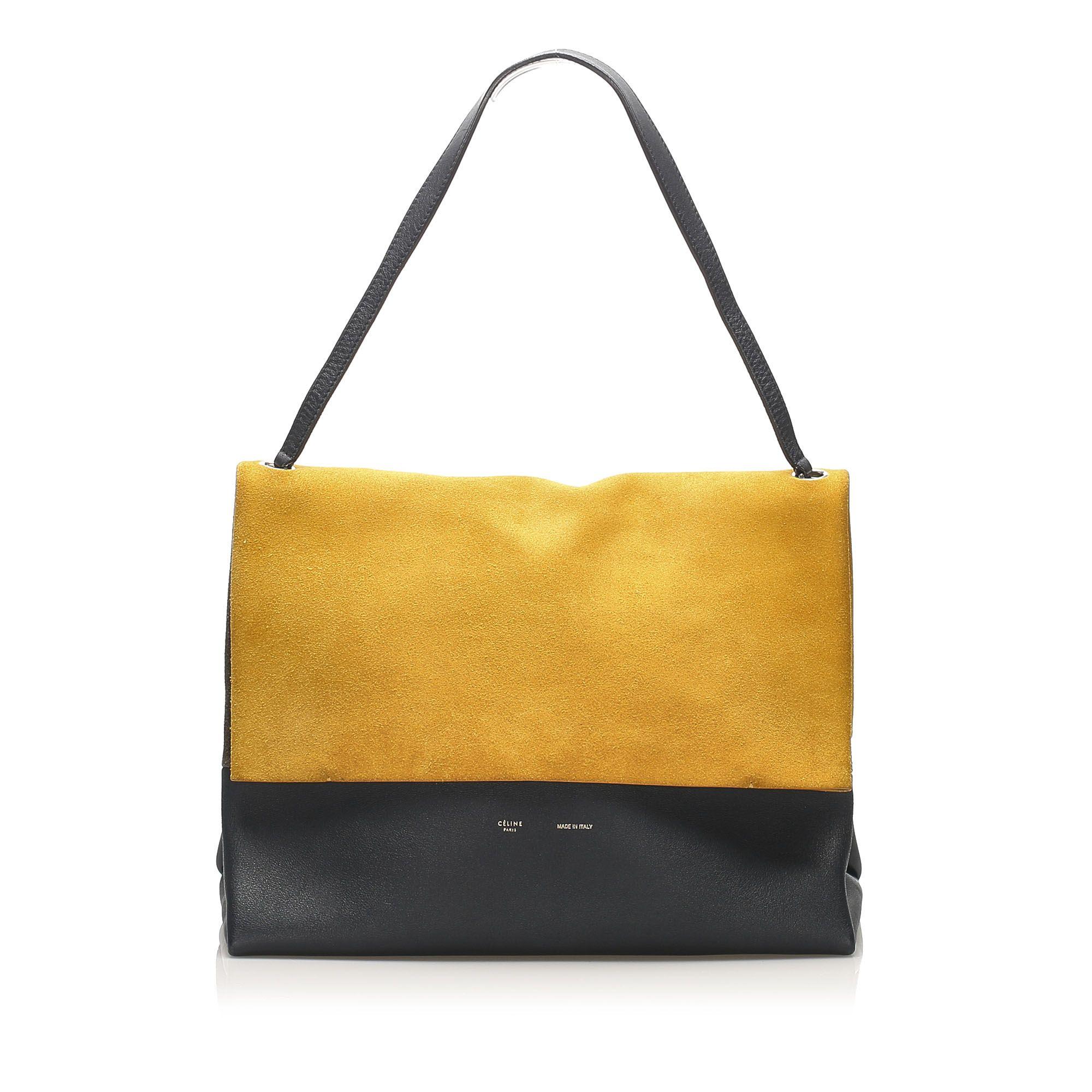 Vintage Celine All Soft Shoulder Bag Yellow