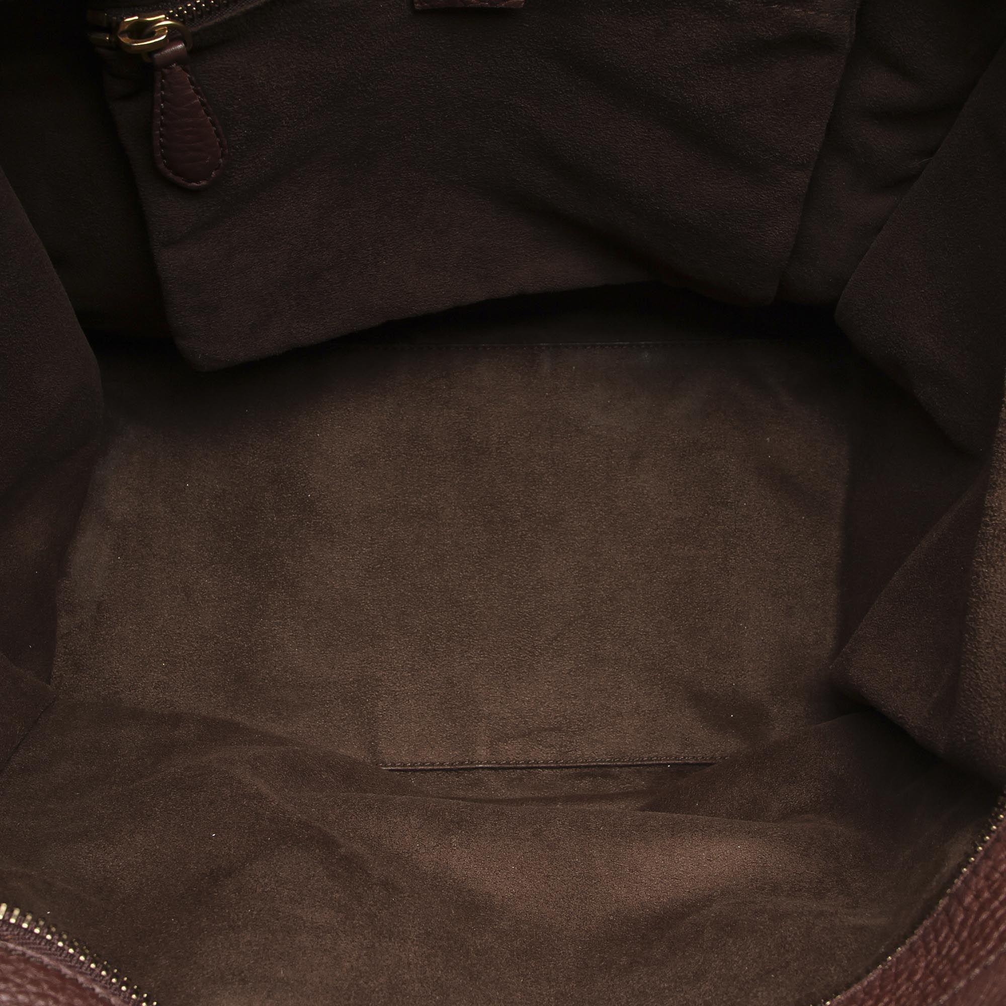 Vintage Celine The Luggage Tote Leather Tote Bag Brown