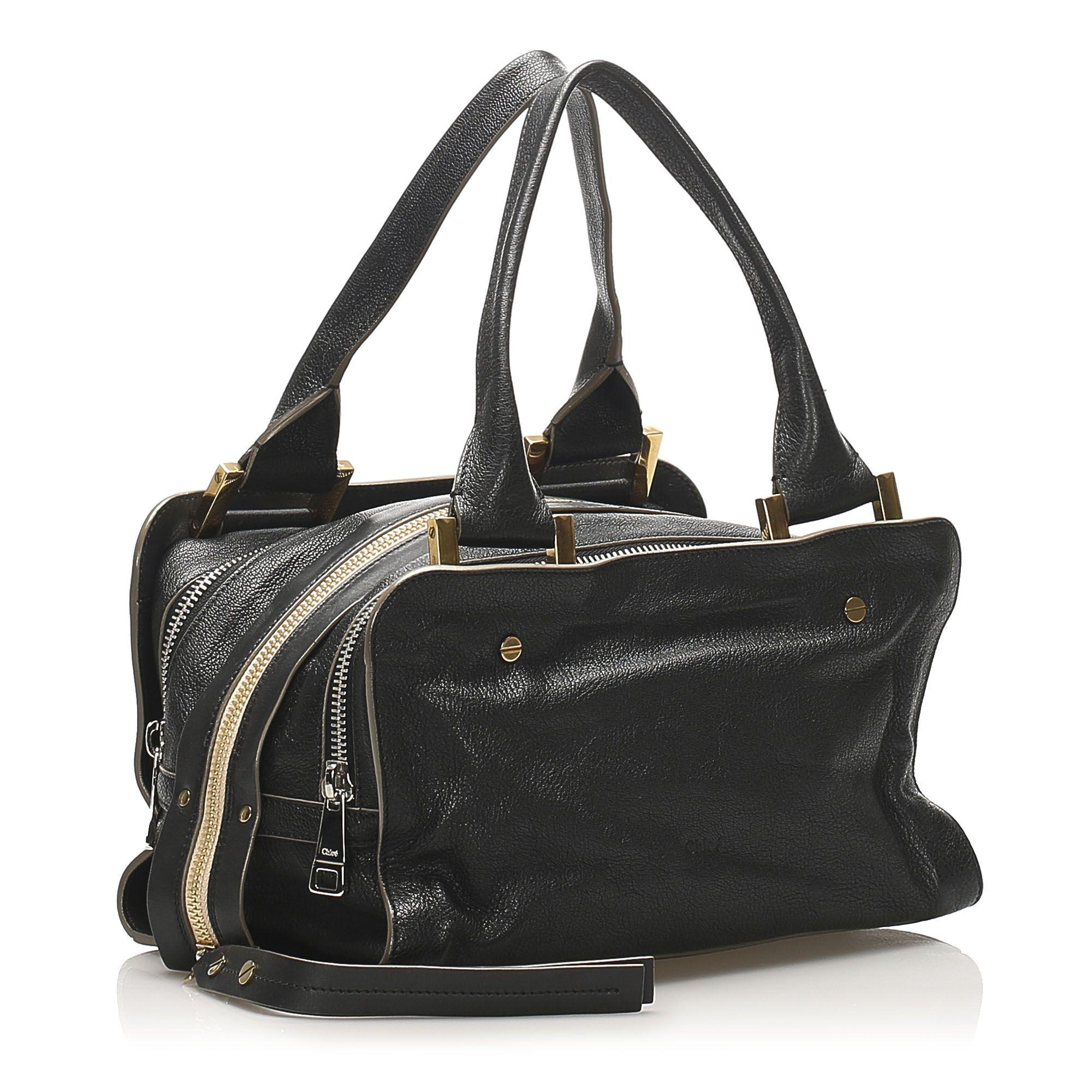 Vintage Chloe Dalston Leather Handbag Black