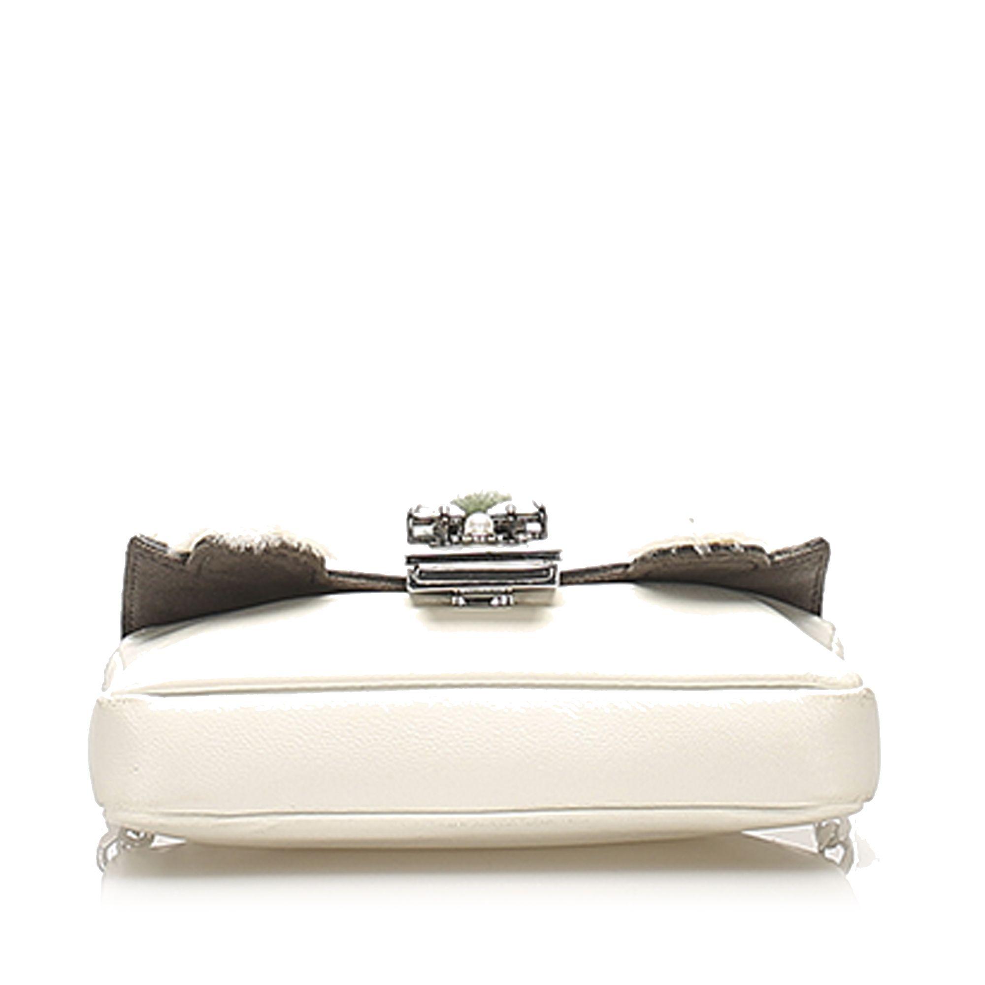 Vintage Fendi Monster Leather Baguette White