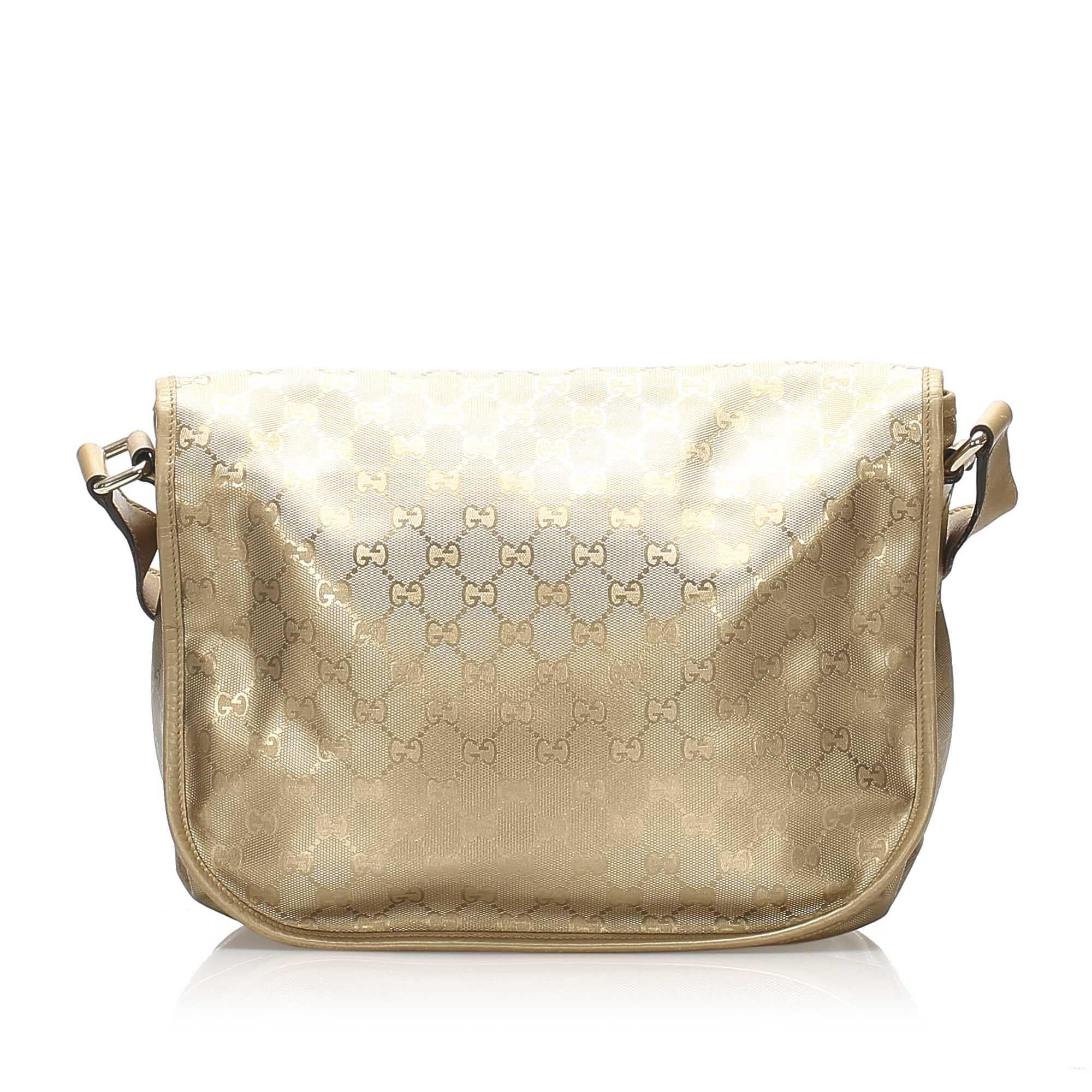Vintage Gucci GG Imprime Crossbody Bag Gold