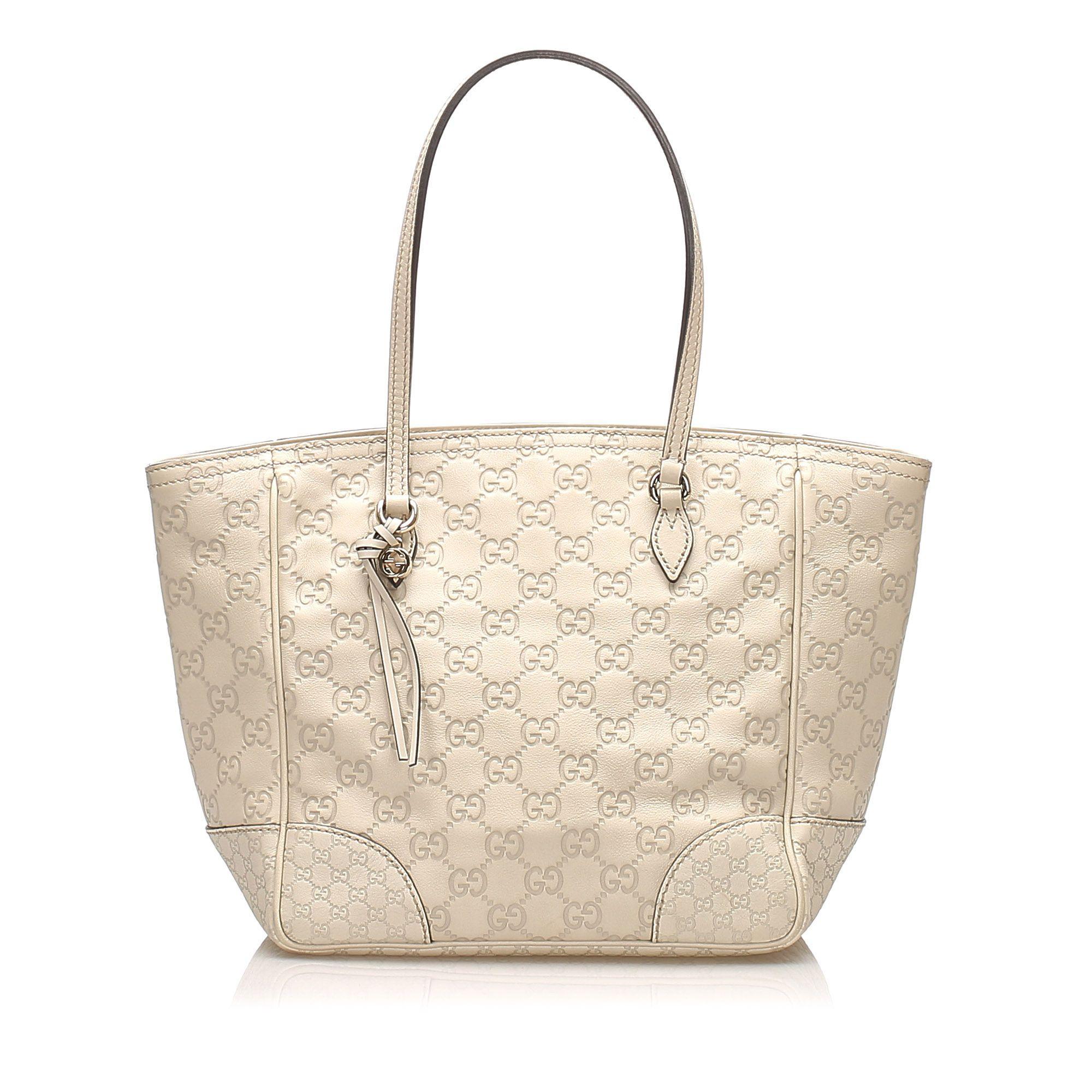 Vintage Gucci Guccissima Bree Leather Tote Bag Brown
