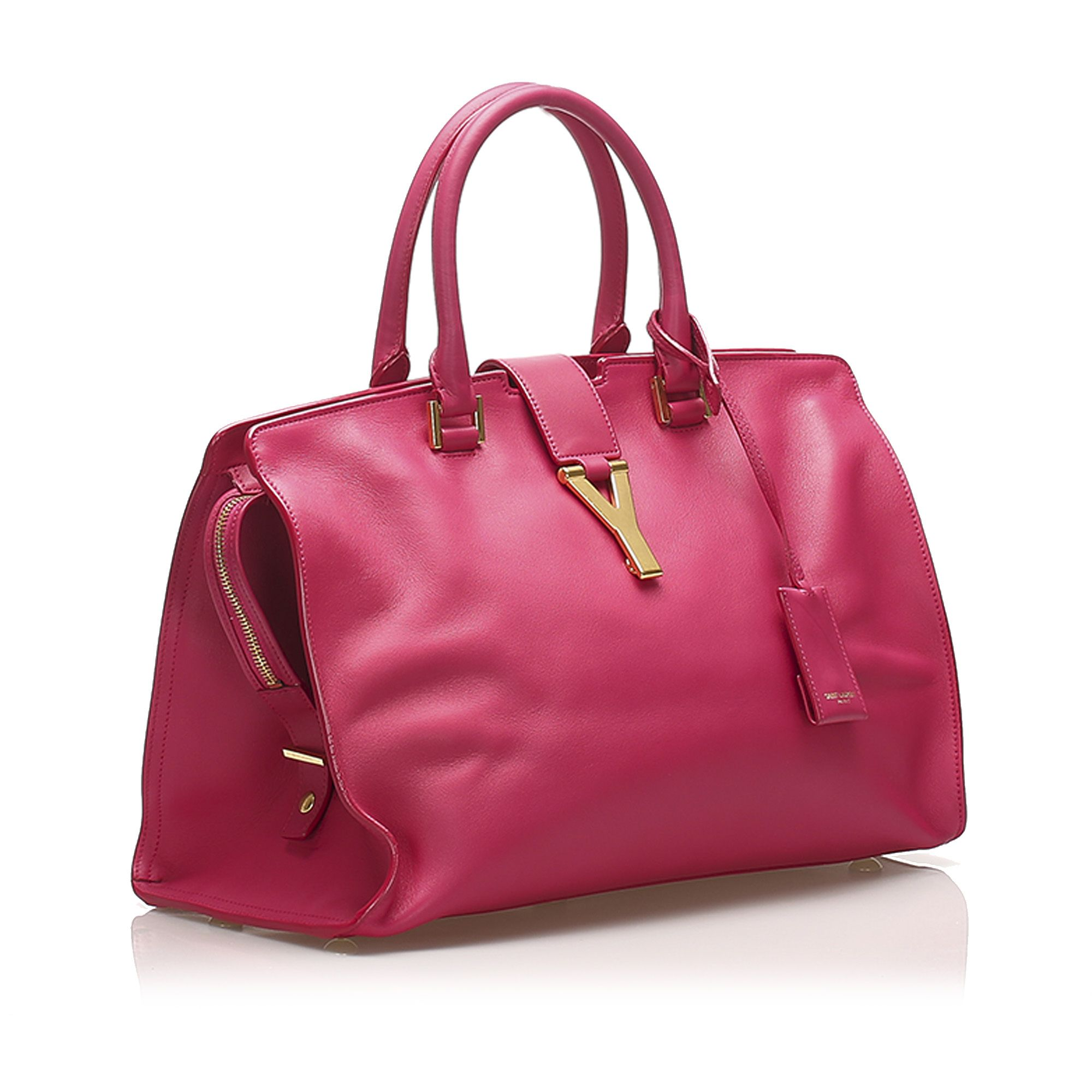 Vintage YSL Cabas Chyc Leather Satchel Pink