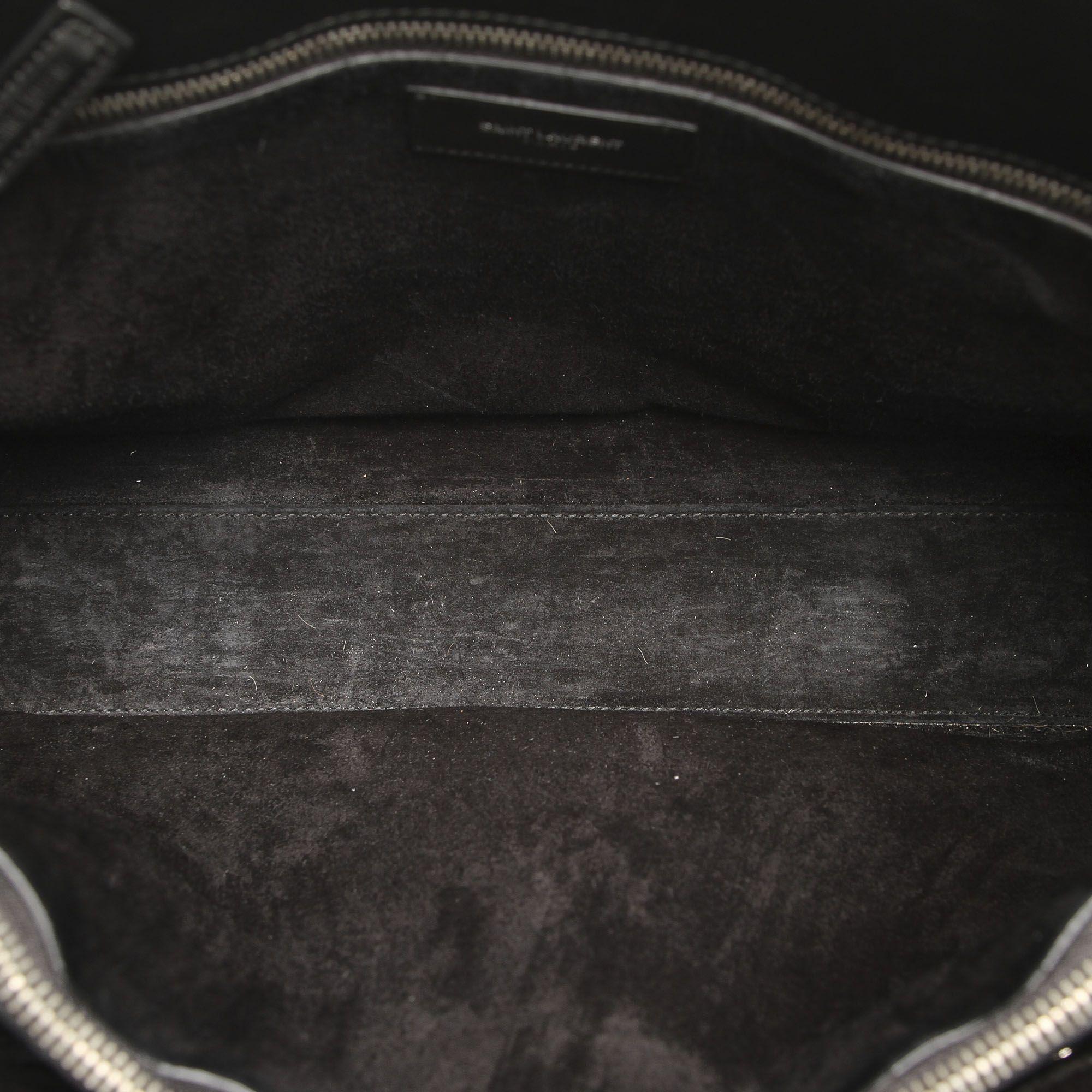 Vintage YSL Sac De Jour Studded Leather Satchel Black